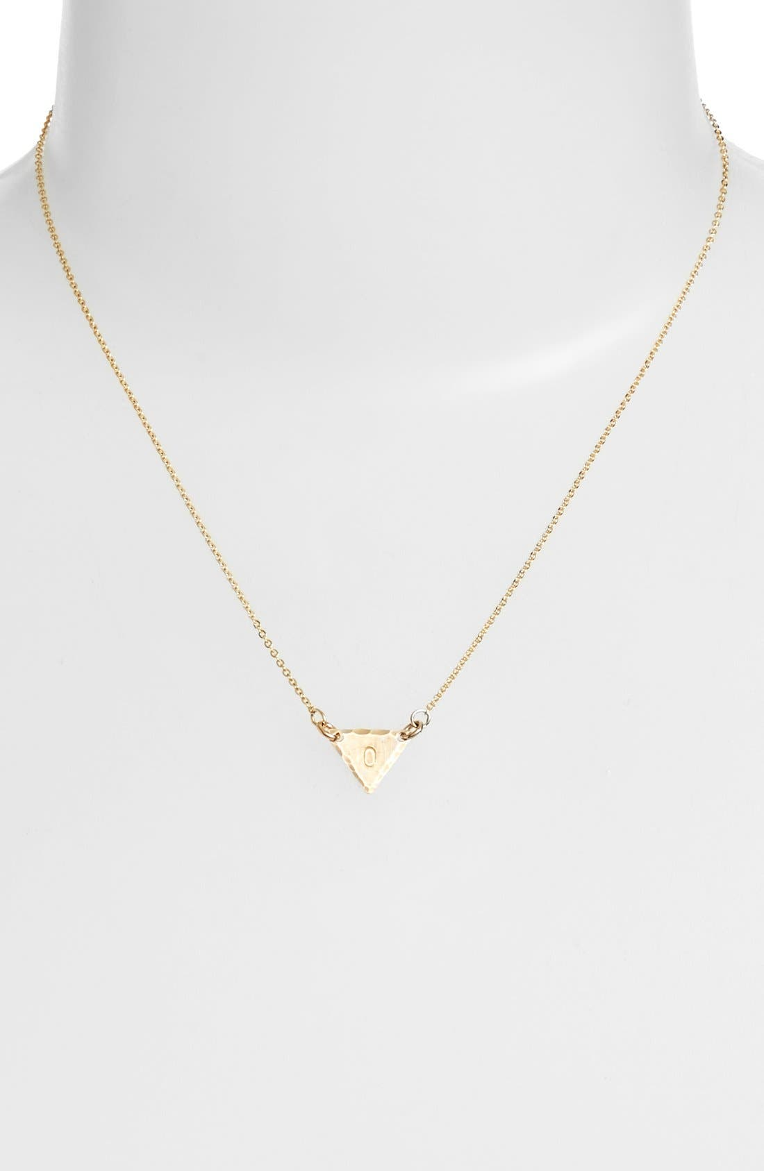 14k-Gold Fill Initial Triangle Necklace,                             Alternate thumbnail 41, color,