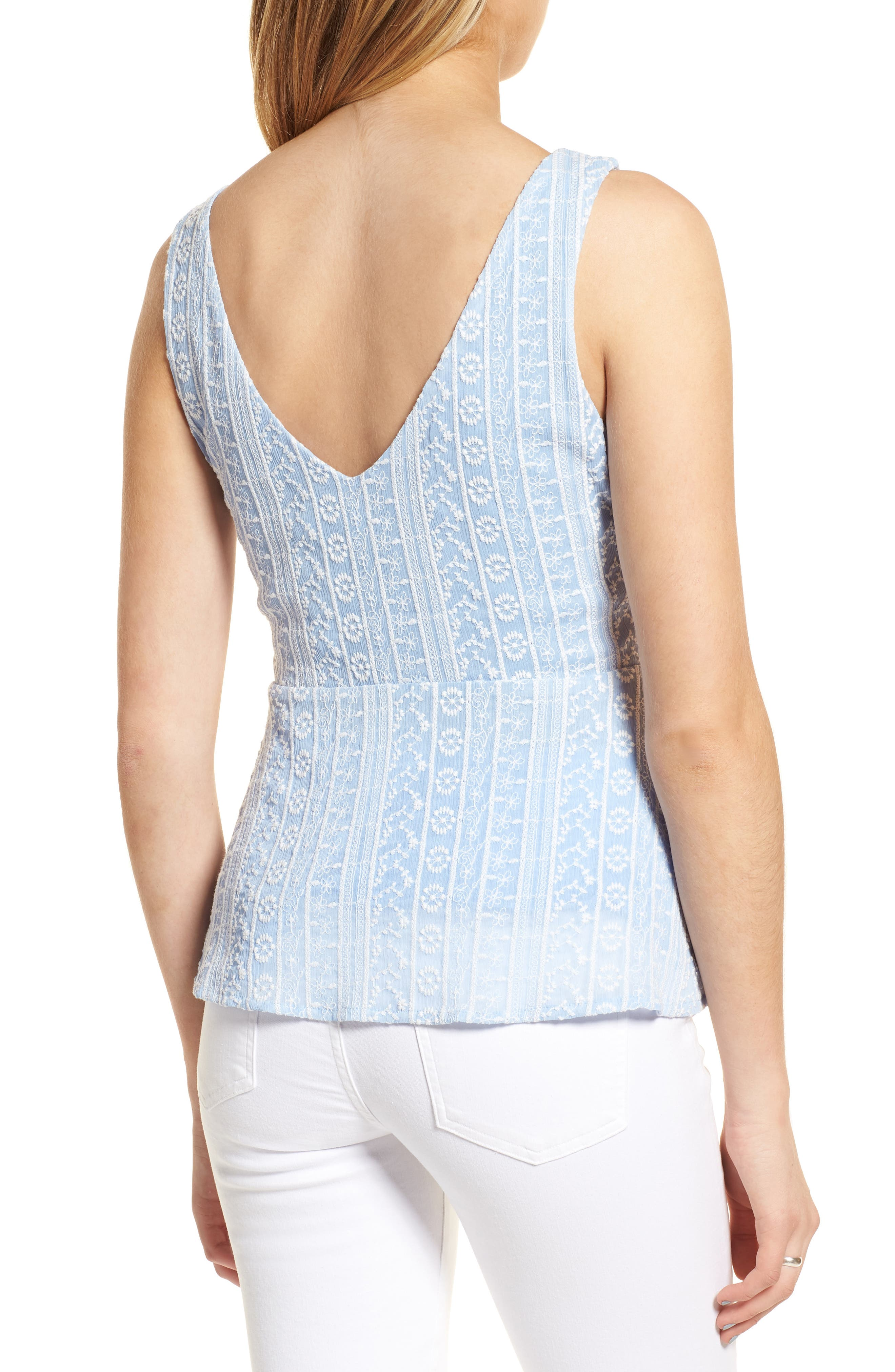 Brian Embroidered Peplum Tank,                             Alternate thumbnail 2, color,                             450