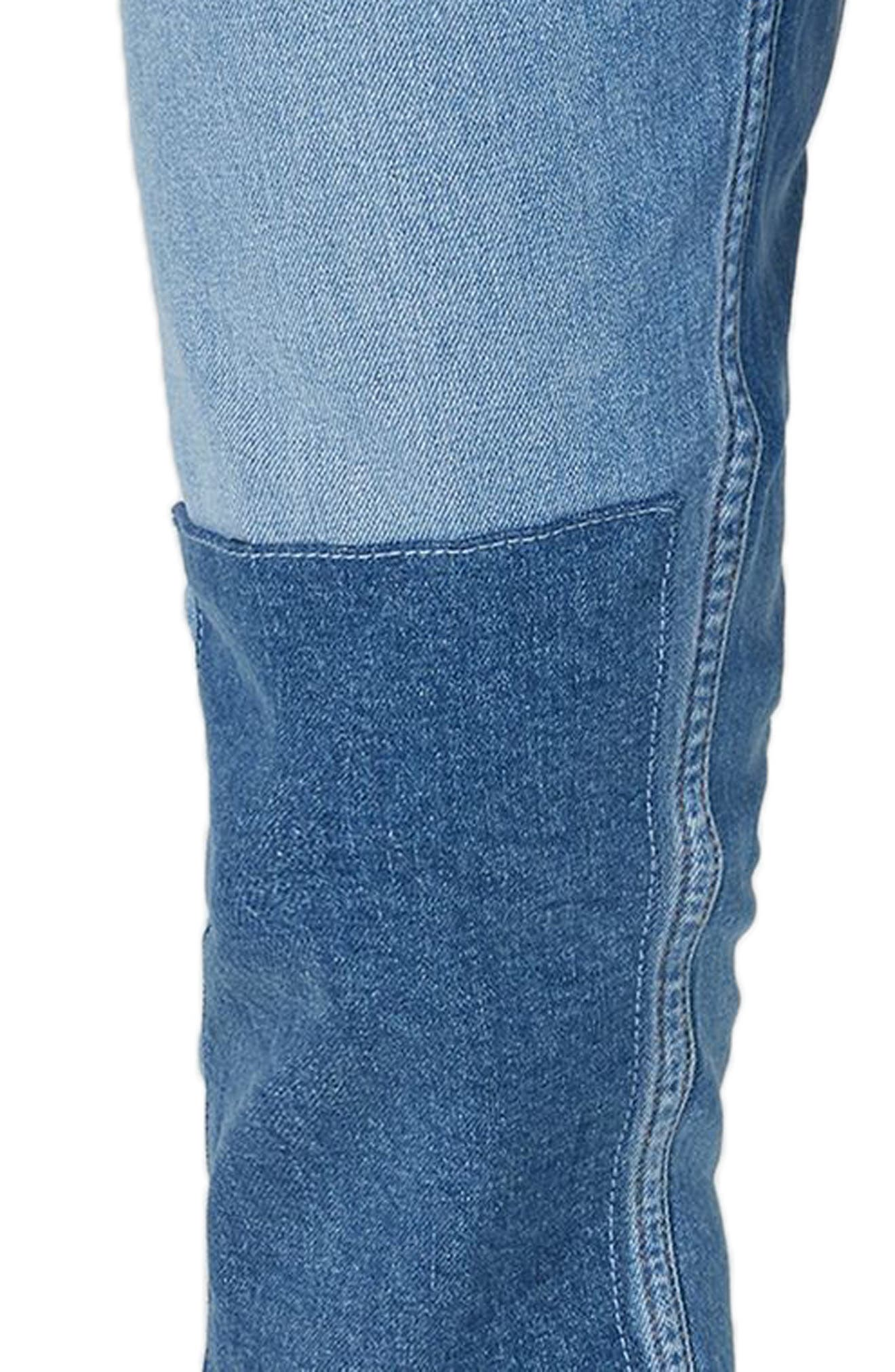Patch Stretch Skinny Jeans,                             Alternate thumbnail 3, color,                             400