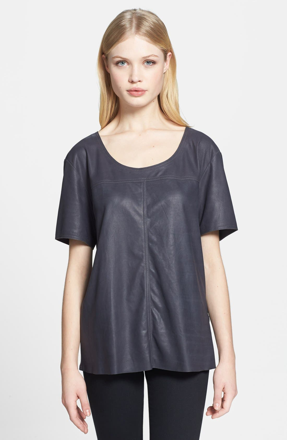 Leather Front Tee,                         Main,                         color, 021