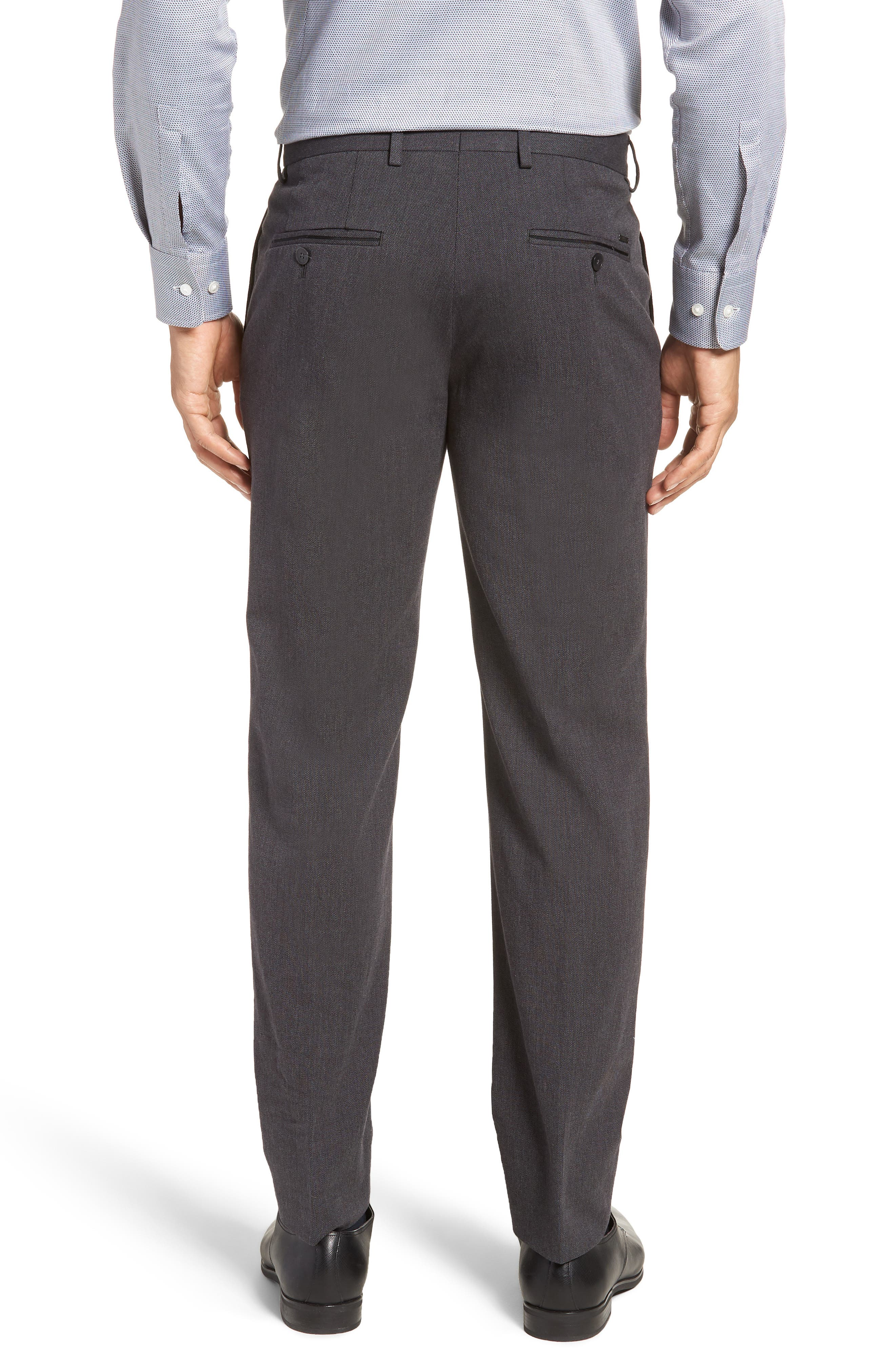 Batho Flat Front Solid Cotton Trousers,                             Alternate thumbnail 2, color,                             MEDIUM GREY