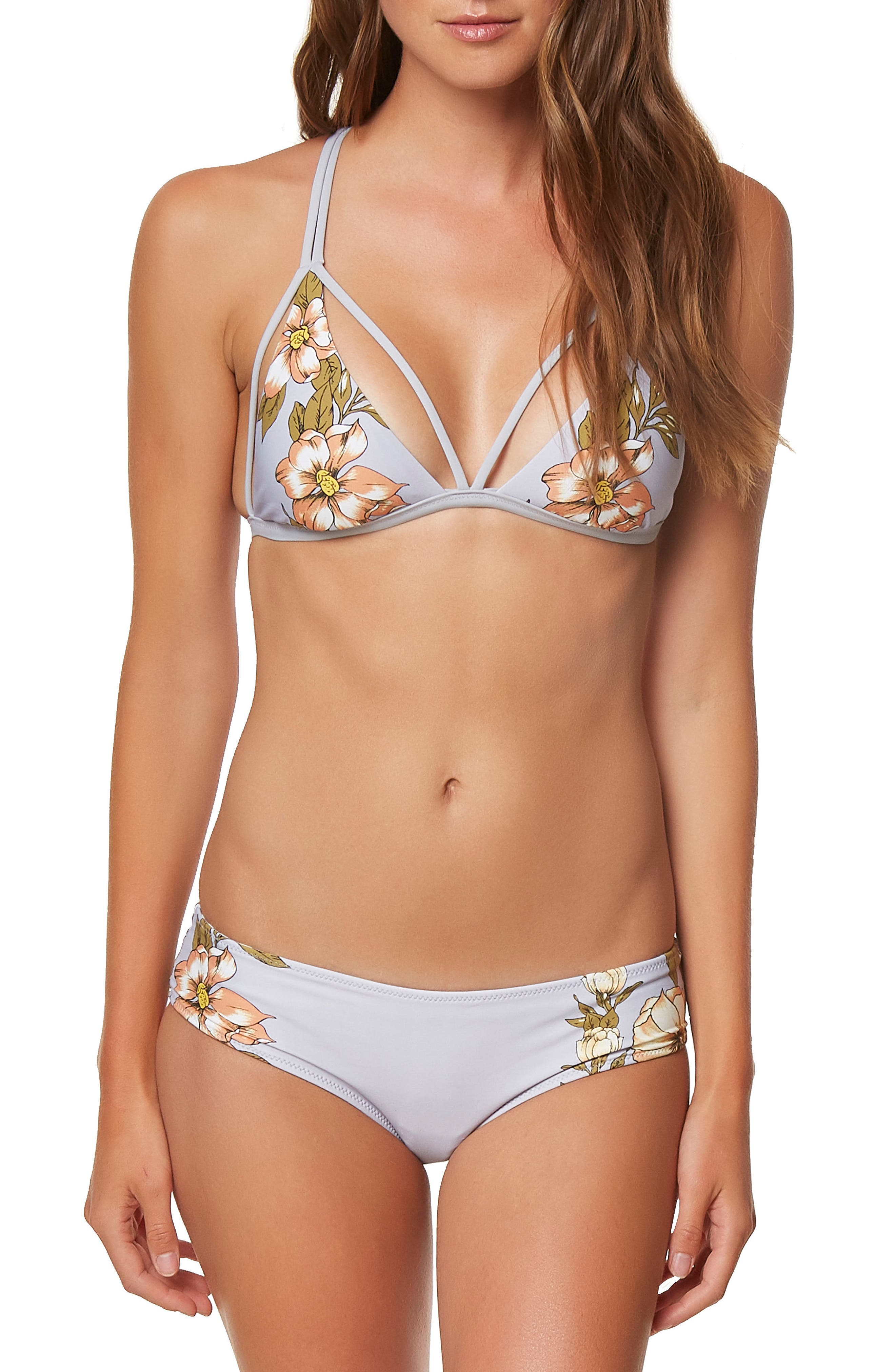Aloha Floral Revo Hipster Bikini Bottoms,                             Alternate thumbnail 3, color,                             020