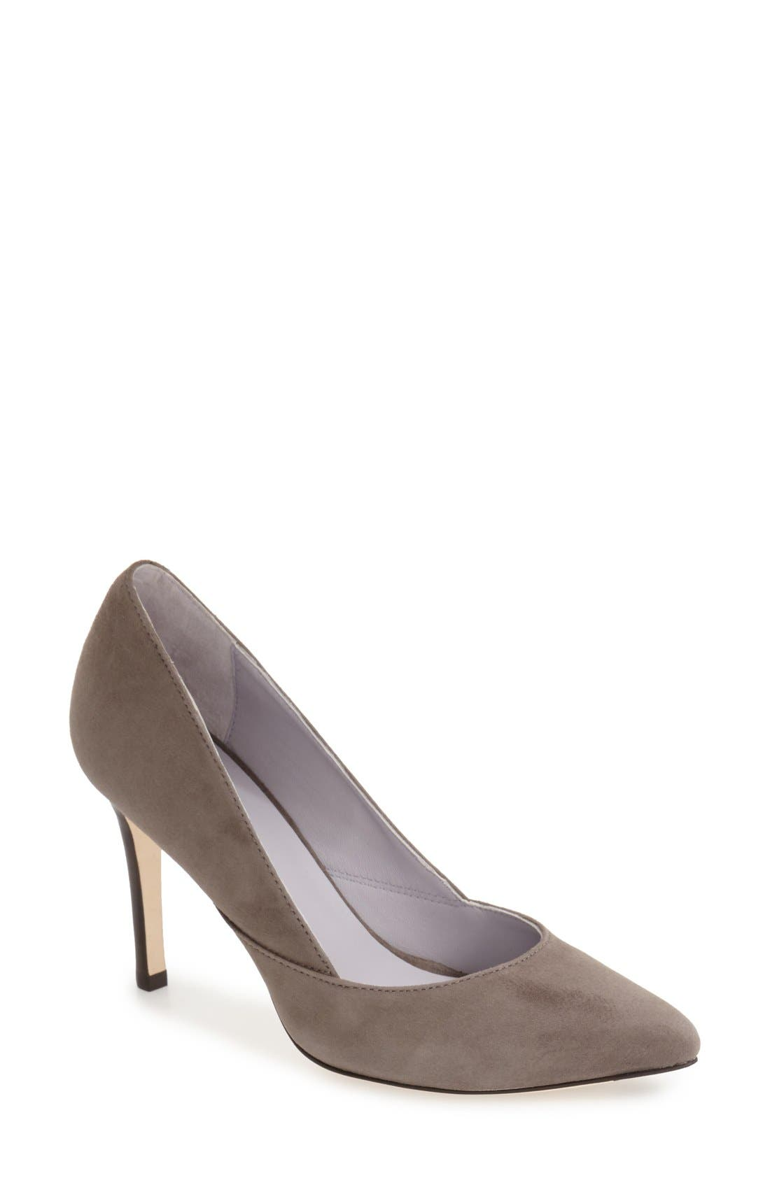 'Vanessa' Pointy Toe Leather Pump,                             Main thumbnail 3, color,