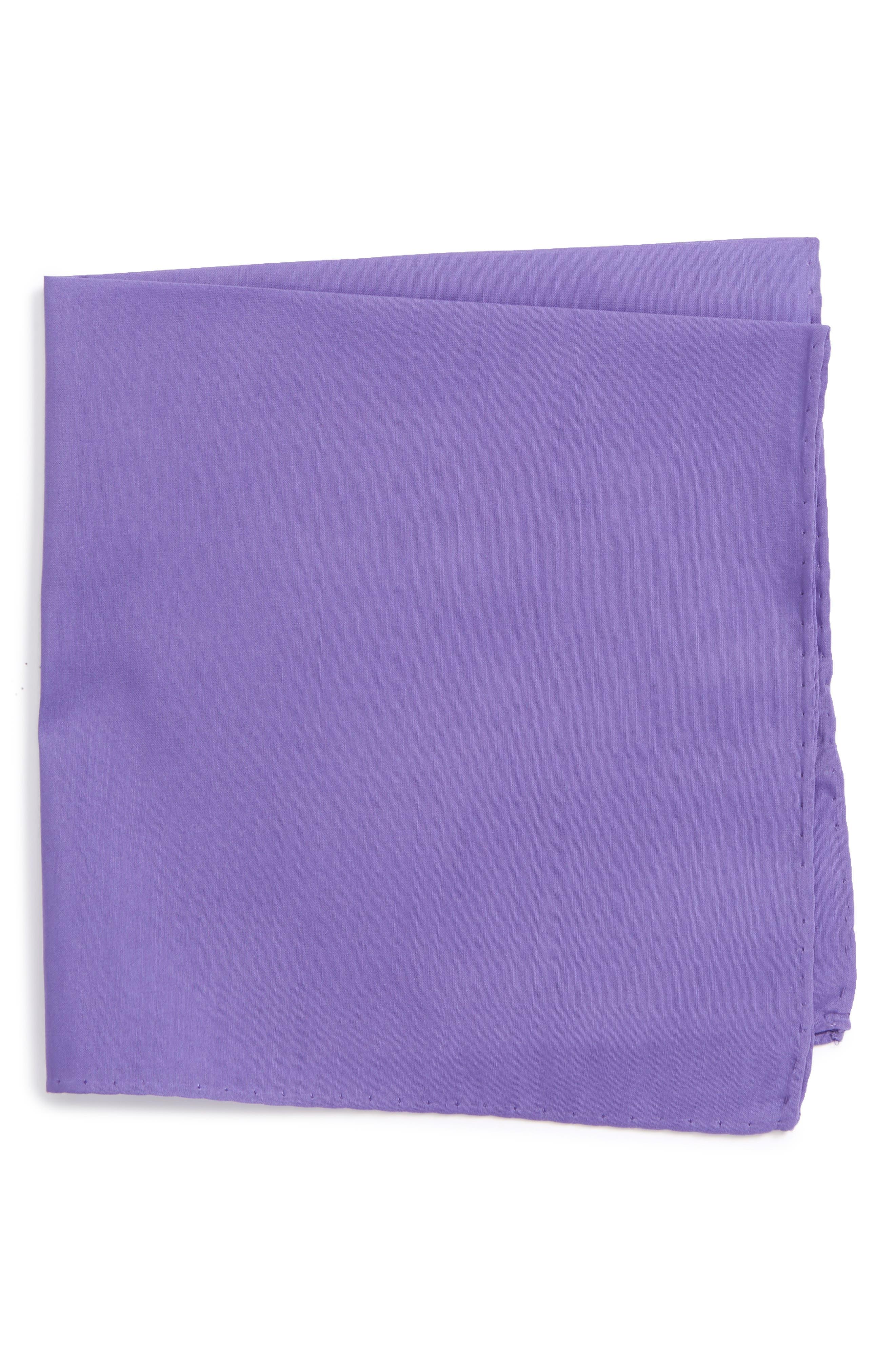 Solid Cotton & Silk Pocket Square,                             Main thumbnail 6, color,