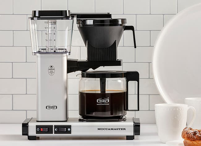 Moccamaster KBG coffee brewer.