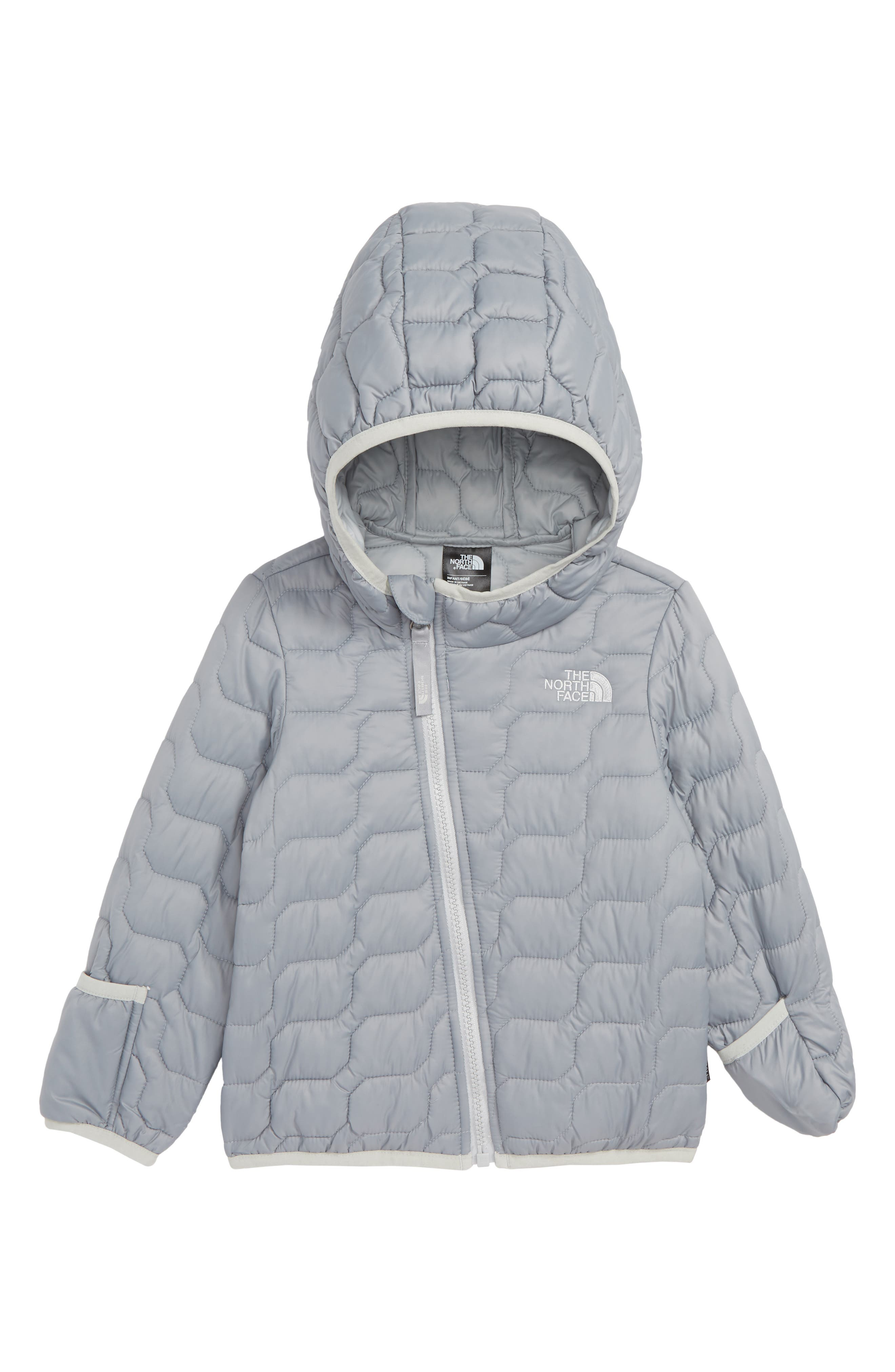 Infant Boys The North Face Thermoball(TM) Primaloft Hoodie Jacket Size 612M  Grey