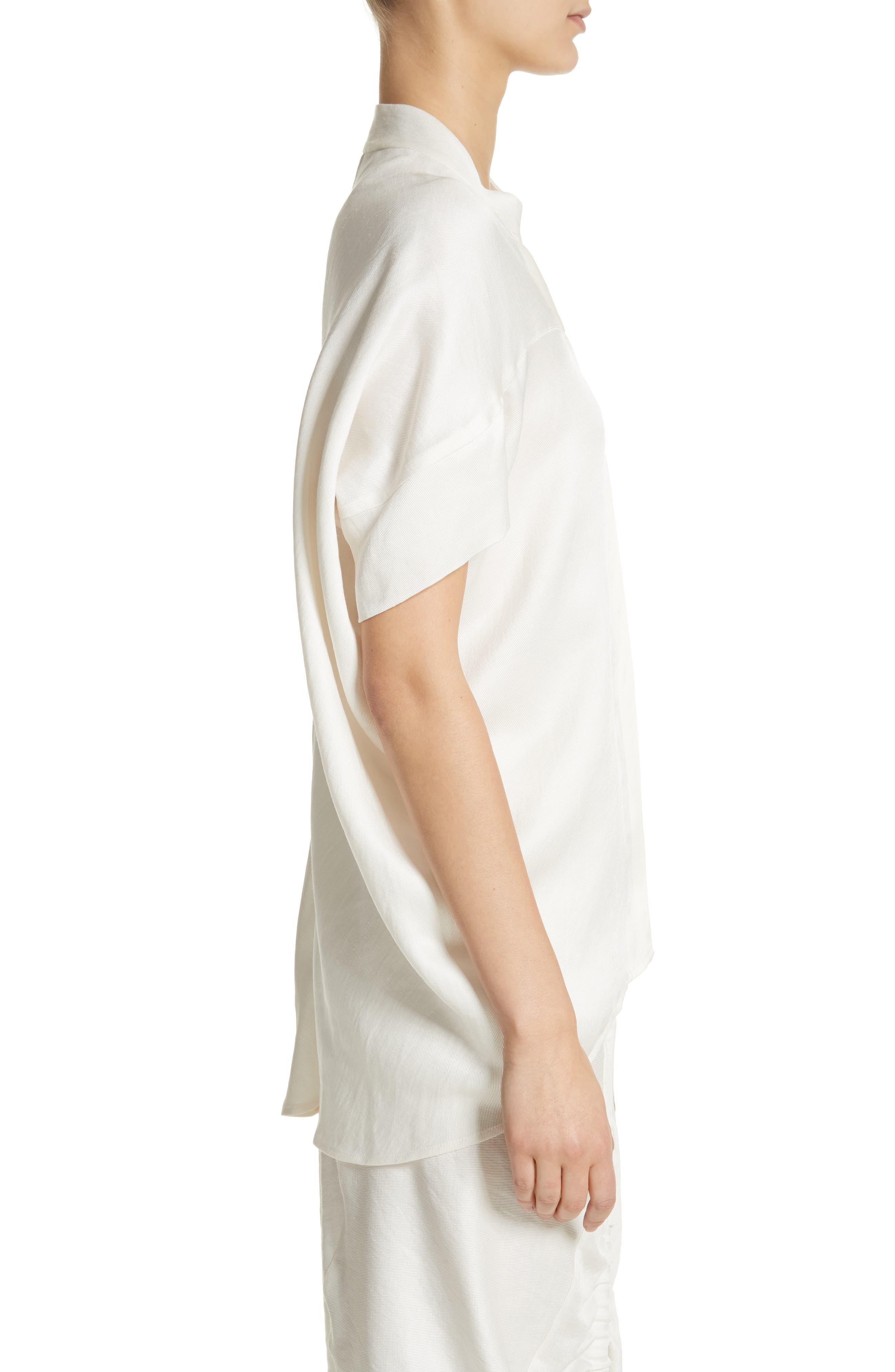 Concave Drape Shirt,                             Alternate thumbnail 3, color,                             100