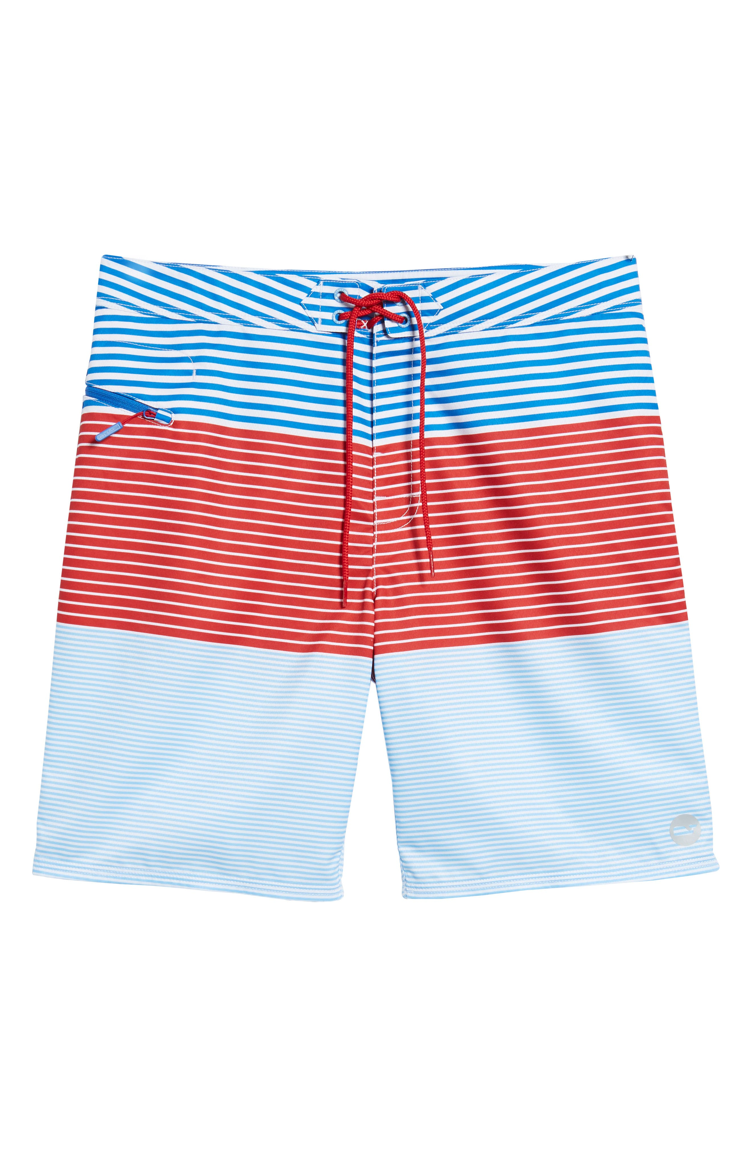 Whale Harbor Stripe Board Shorts,                             Alternate thumbnail 6, color,                             427