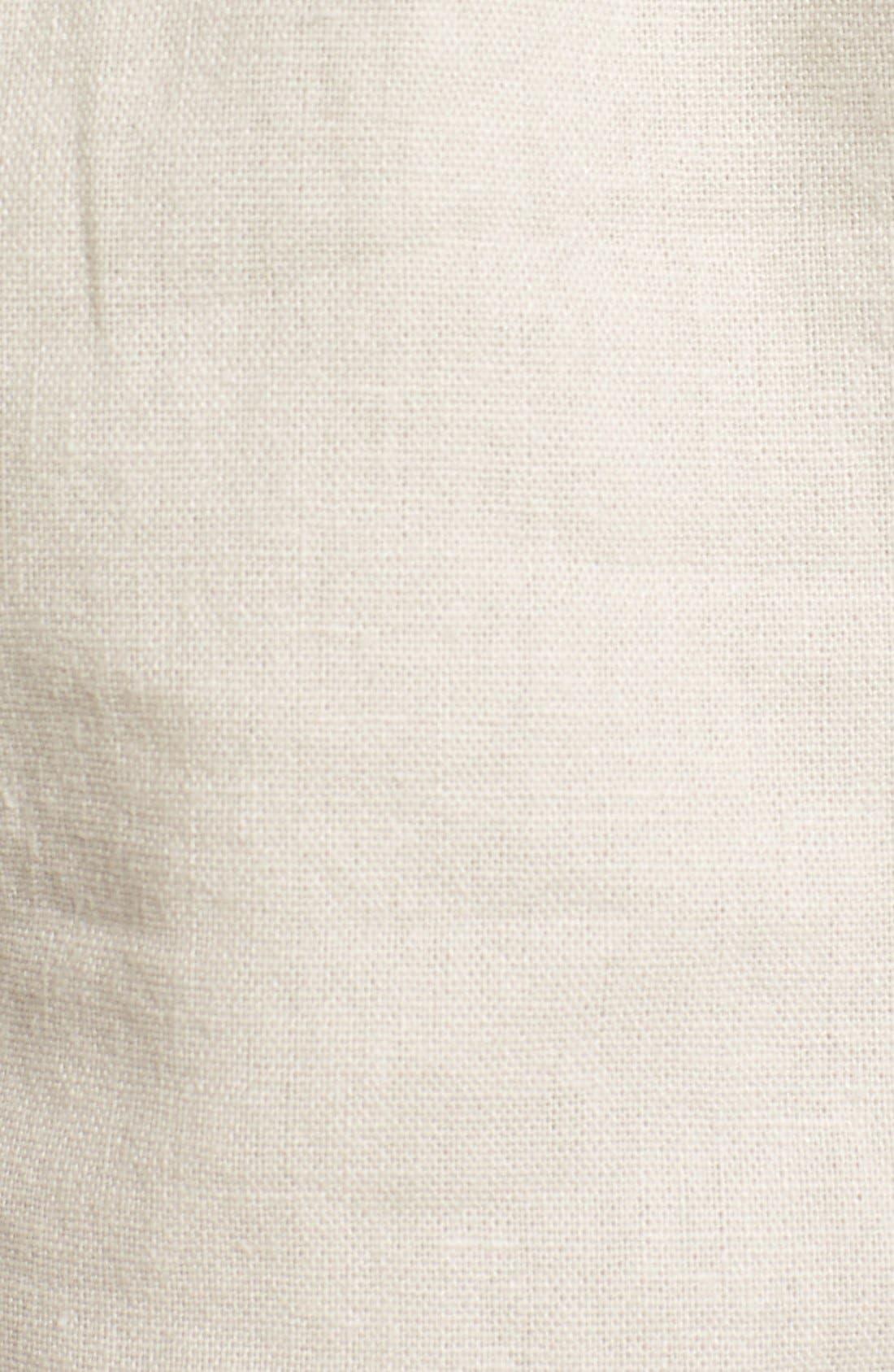 'Oceanside' Linen Blend Shorts,                             Alternate thumbnail 5, color,                             STONE