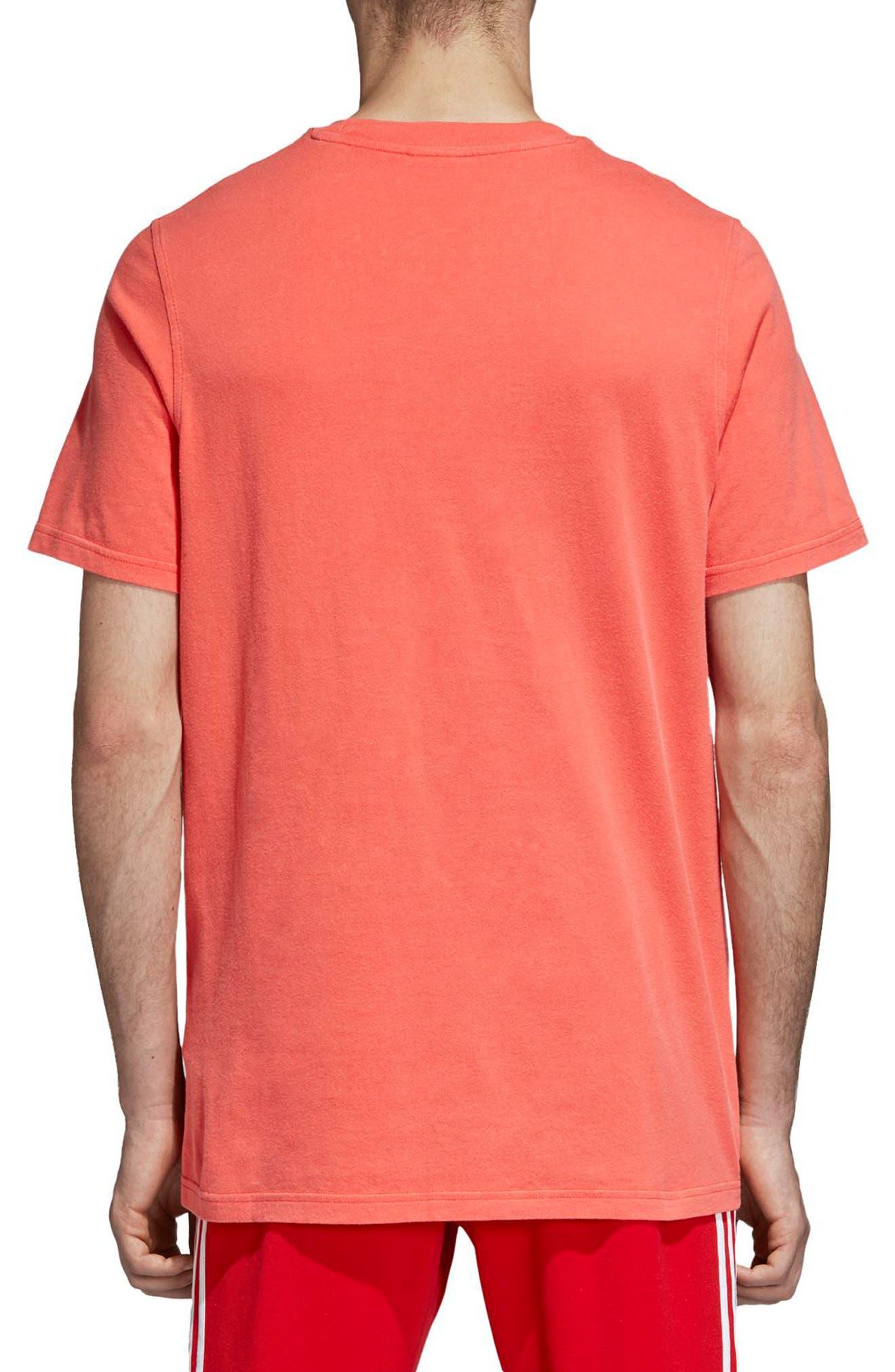 Trefoil Graphic T-Shirt,                             Alternate thumbnail 2, color,                             BRIGHT RED