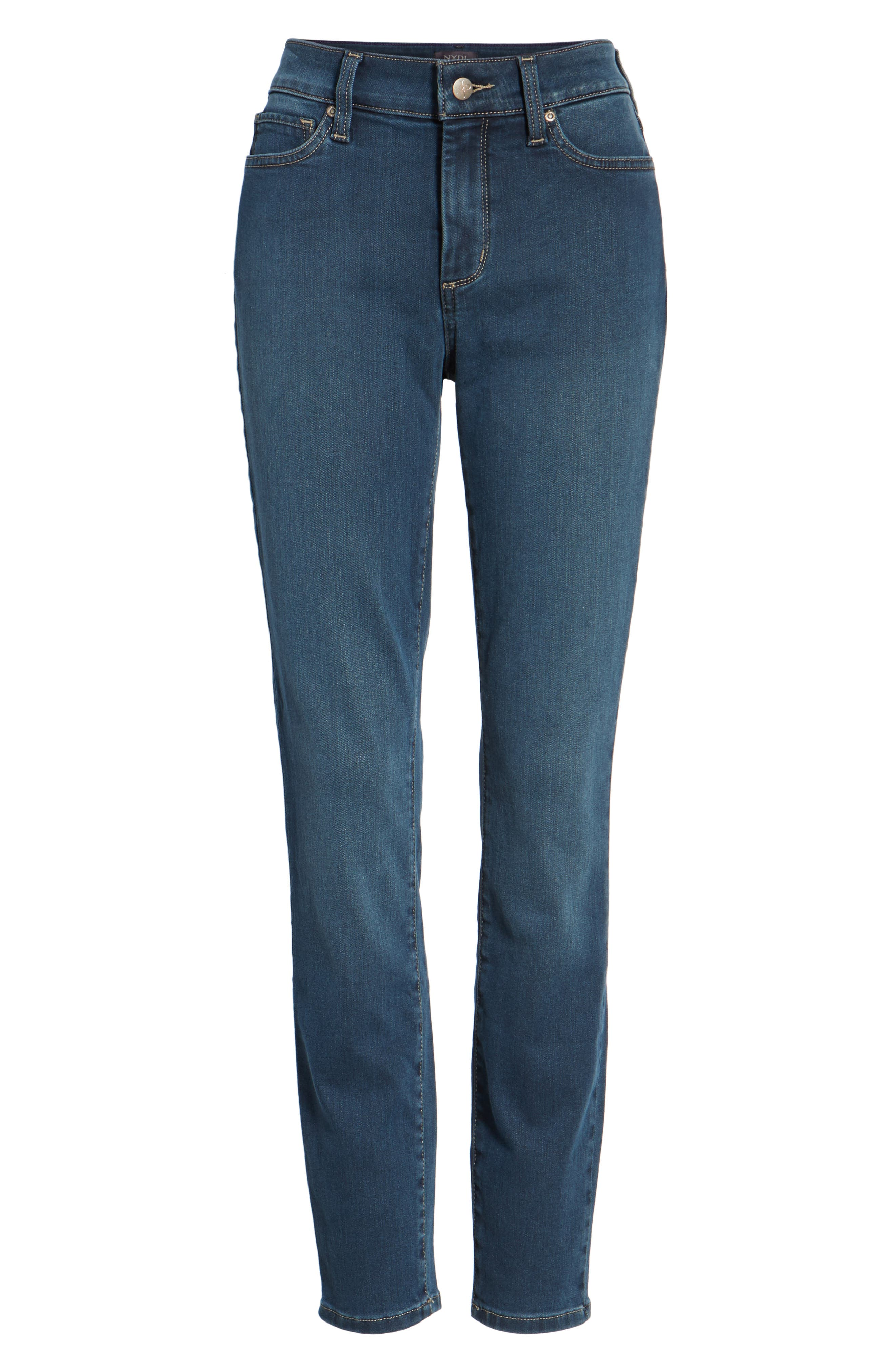 Ami Stretch Super Skinny Jeans,                             Alternate thumbnail 6, color,                             404