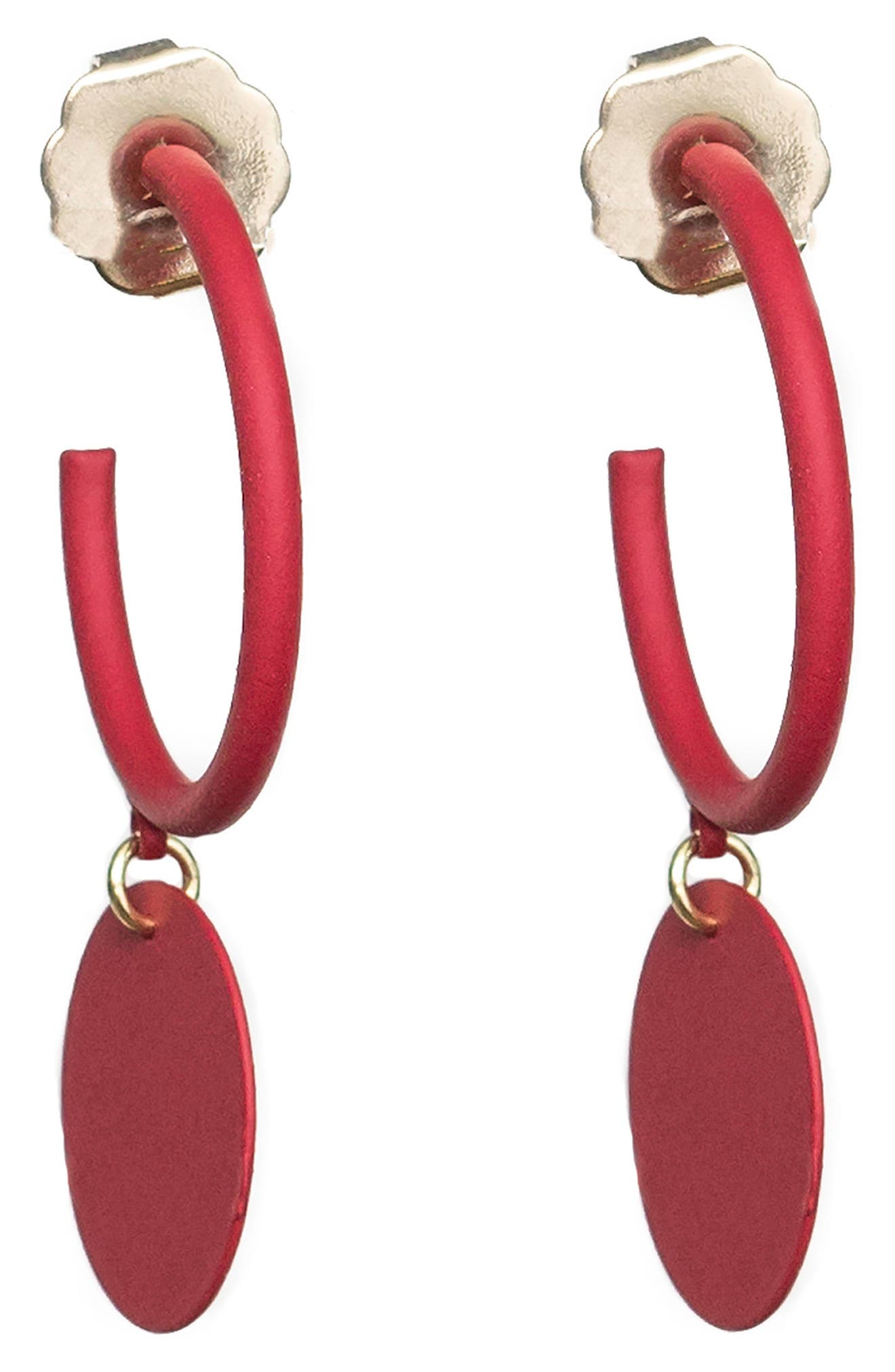 Hanging Medallion Hoop Earrings,                             Main thumbnail 3, color,