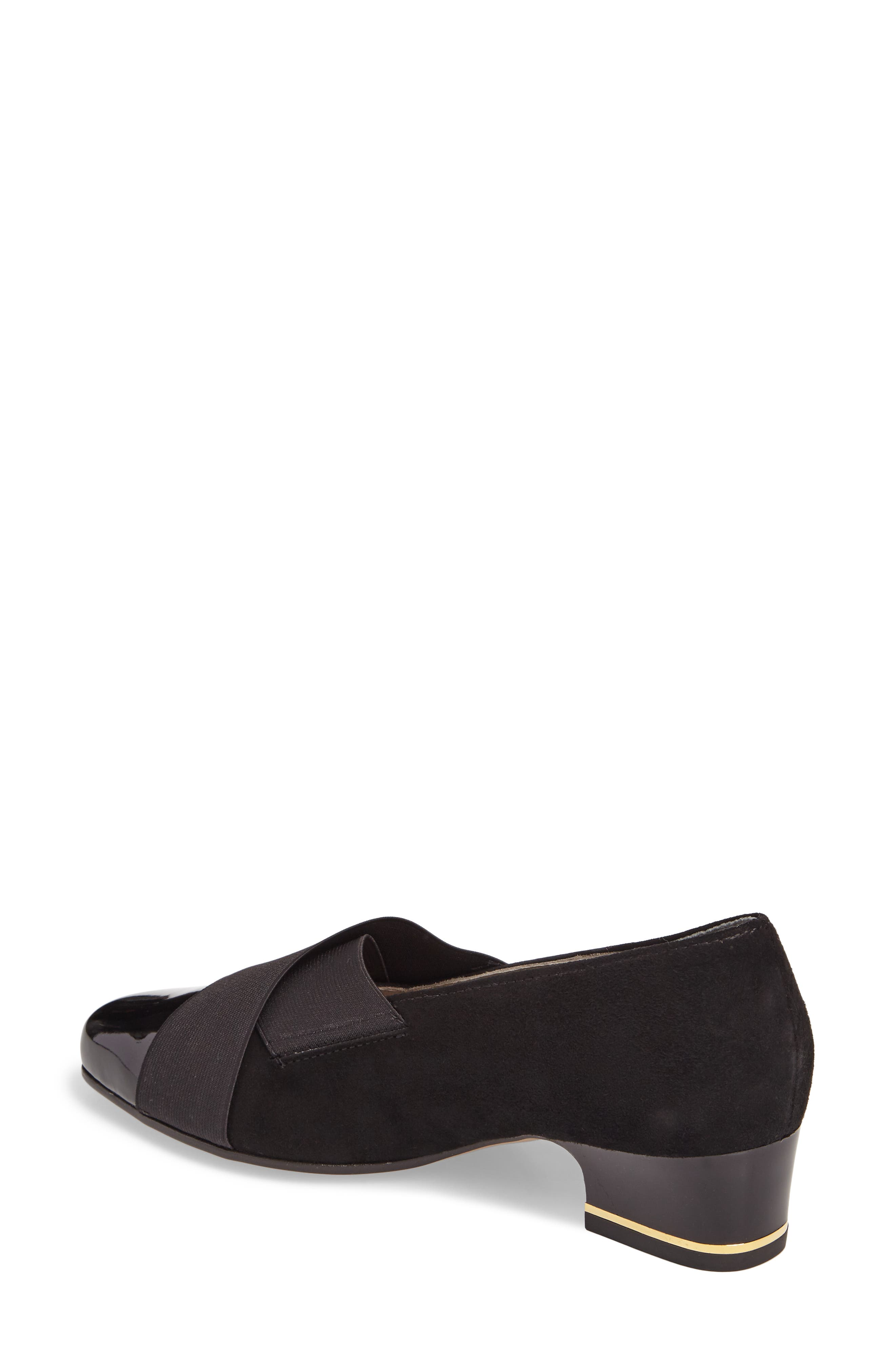 Gina Loafer Pump,                             Alternate thumbnail 2, color,                             BLACK LEATHER