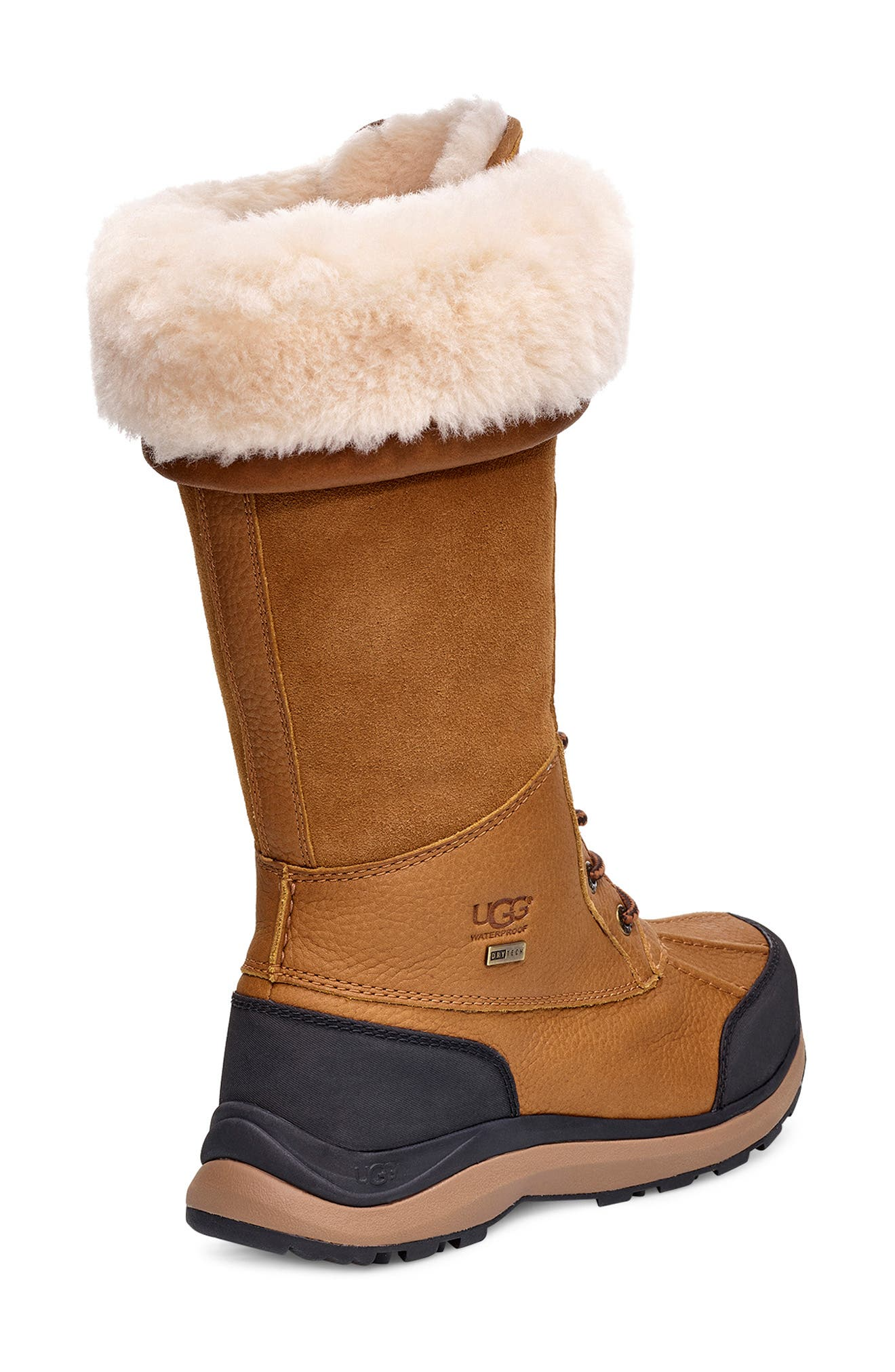 UGG<SUP>®</SUP>,                             Adirondack II Waterproof Tall Boot,                             Alternate thumbnail 2, color,                             CHESTNUT