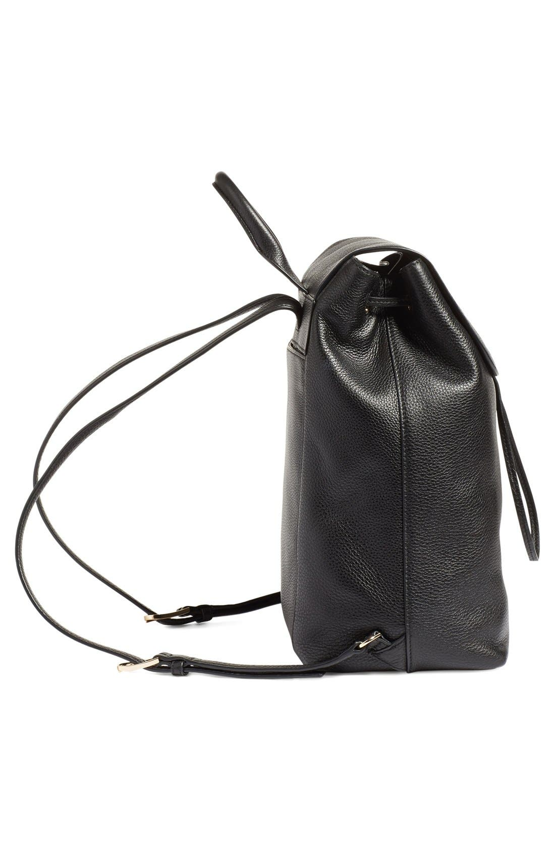 TORY BURCH,                             'Harper' Leather Backpack,                             Alternate thumbnail 5, color,                             012
