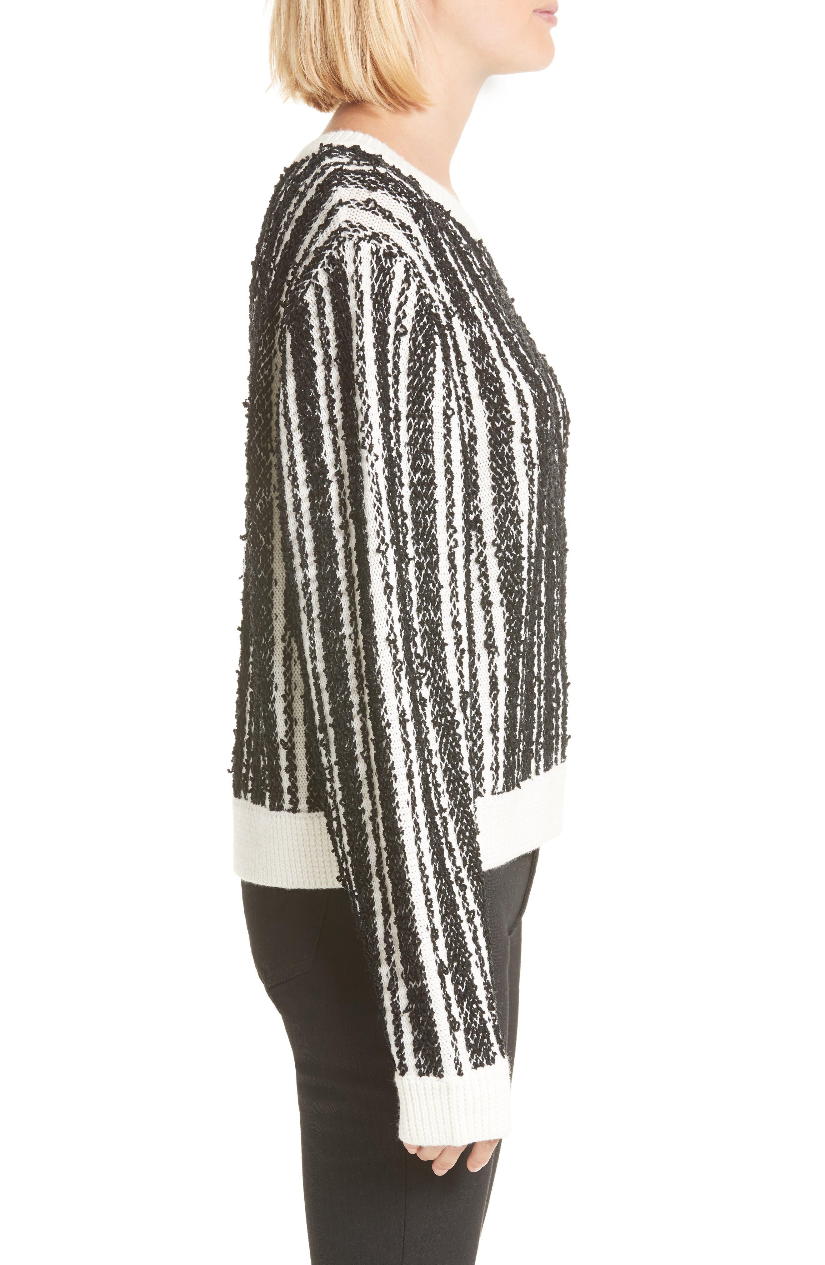 Nabila Stripe Sweater,                             Alternate thumbnail 3, color,                             001