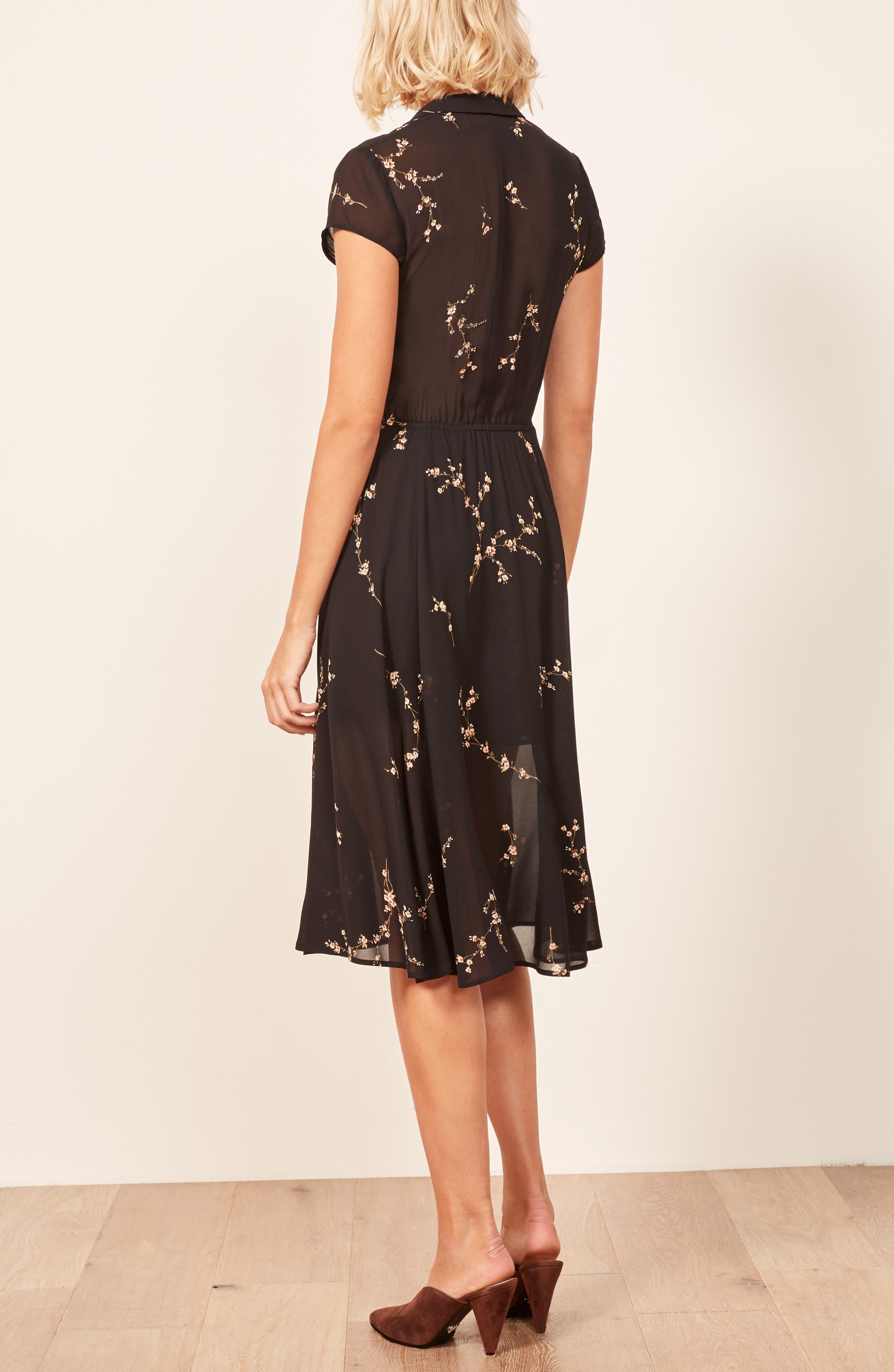 Griffith A-Line Dress,                             Alternate thumbnail 3, color,                             001