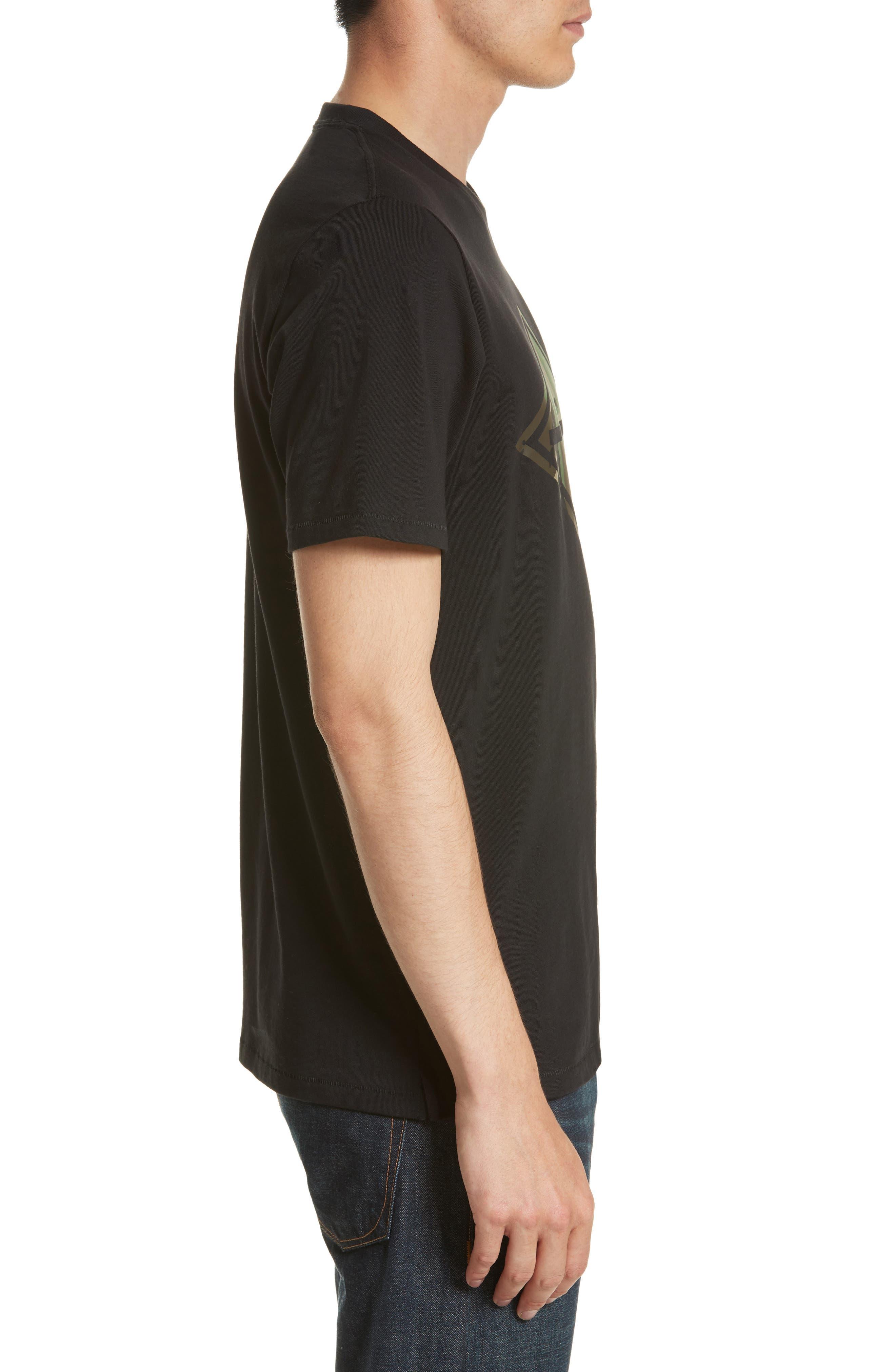 Camo Diamond Graphic T-Shirt,                             Alternate thumbnail 3, color,                             001