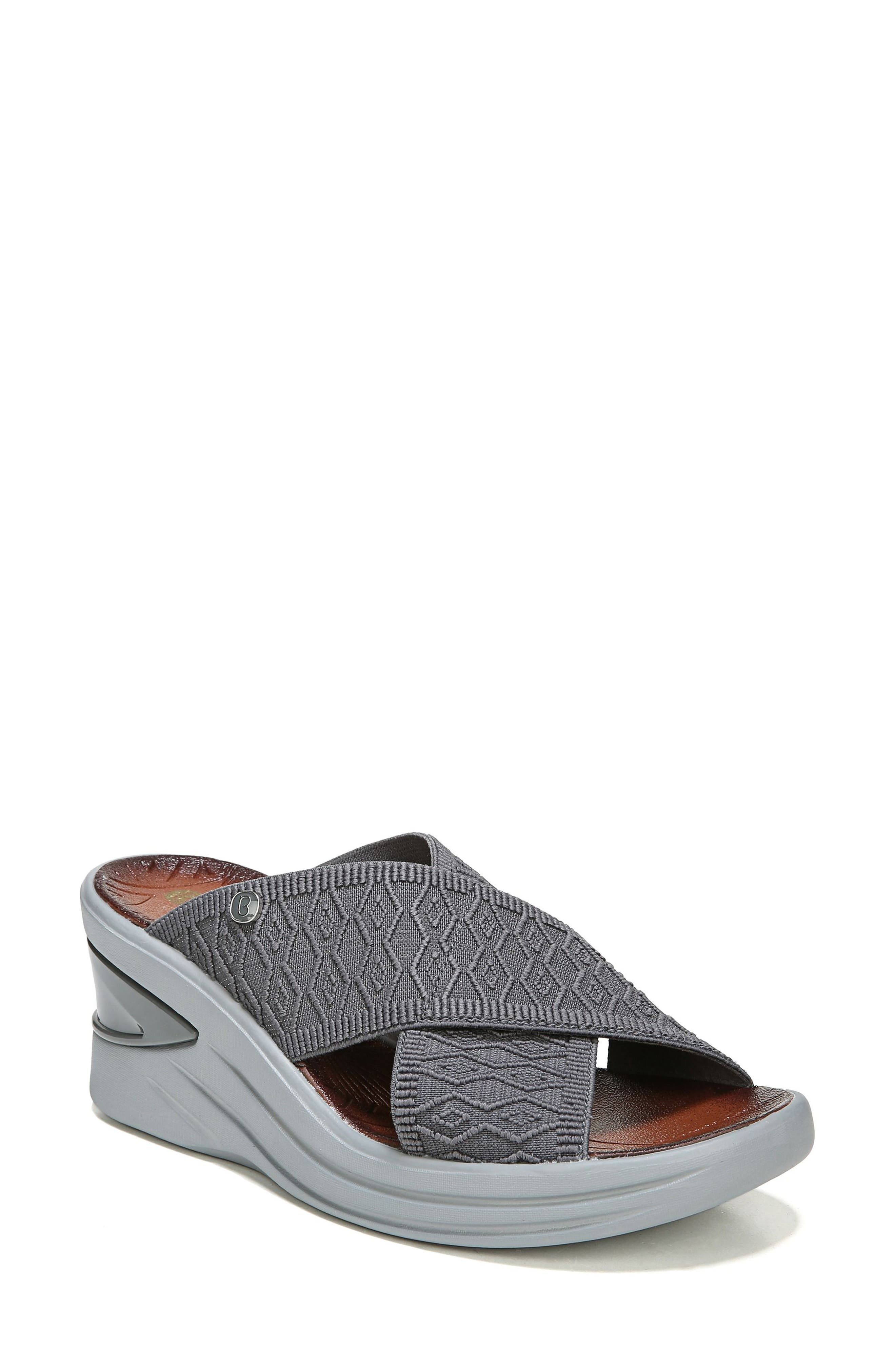 Vista Slide Sandal,                         Main,                         color, PEWTER FABRIC