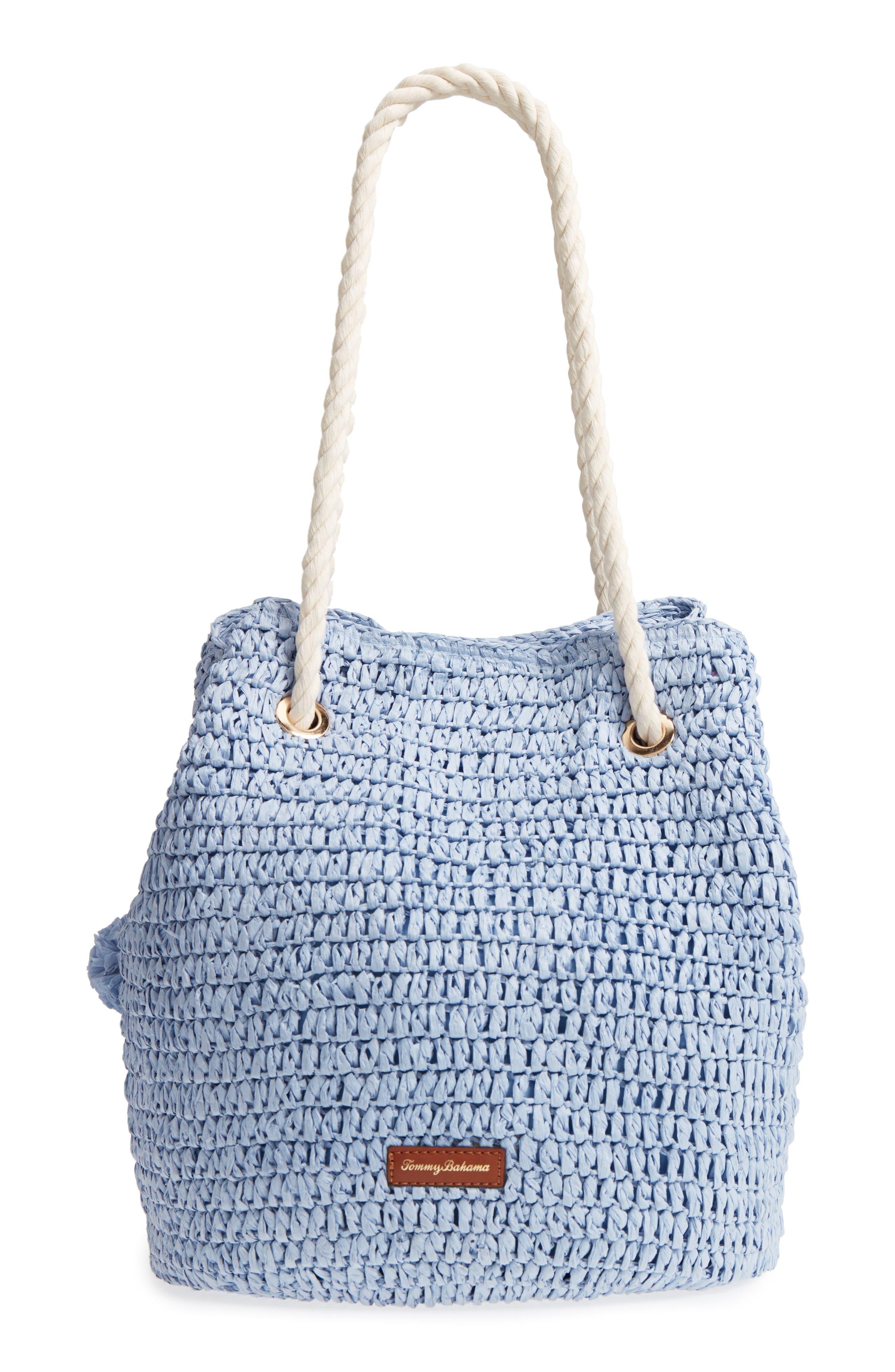 Mama Straw Bucket Bag,                             Alternate thumbnail 6, color,