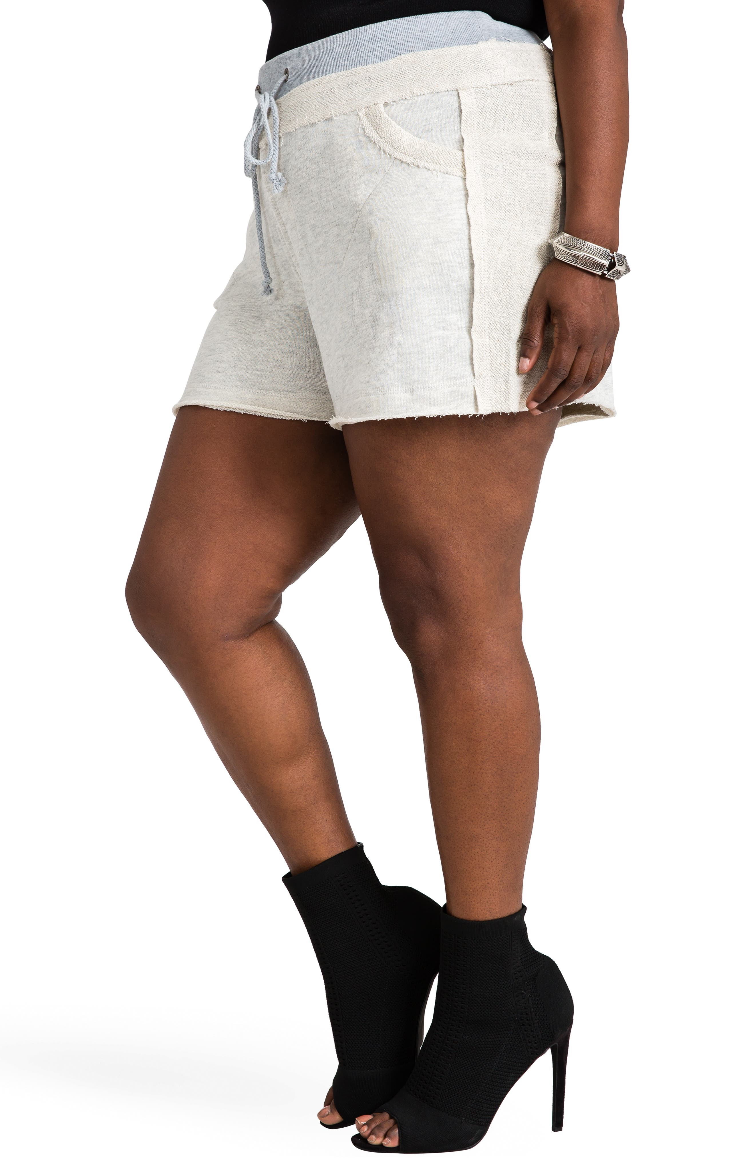 Cassy French Terry Shorts,                             Alternate thumbnail 4, color,                             GREY