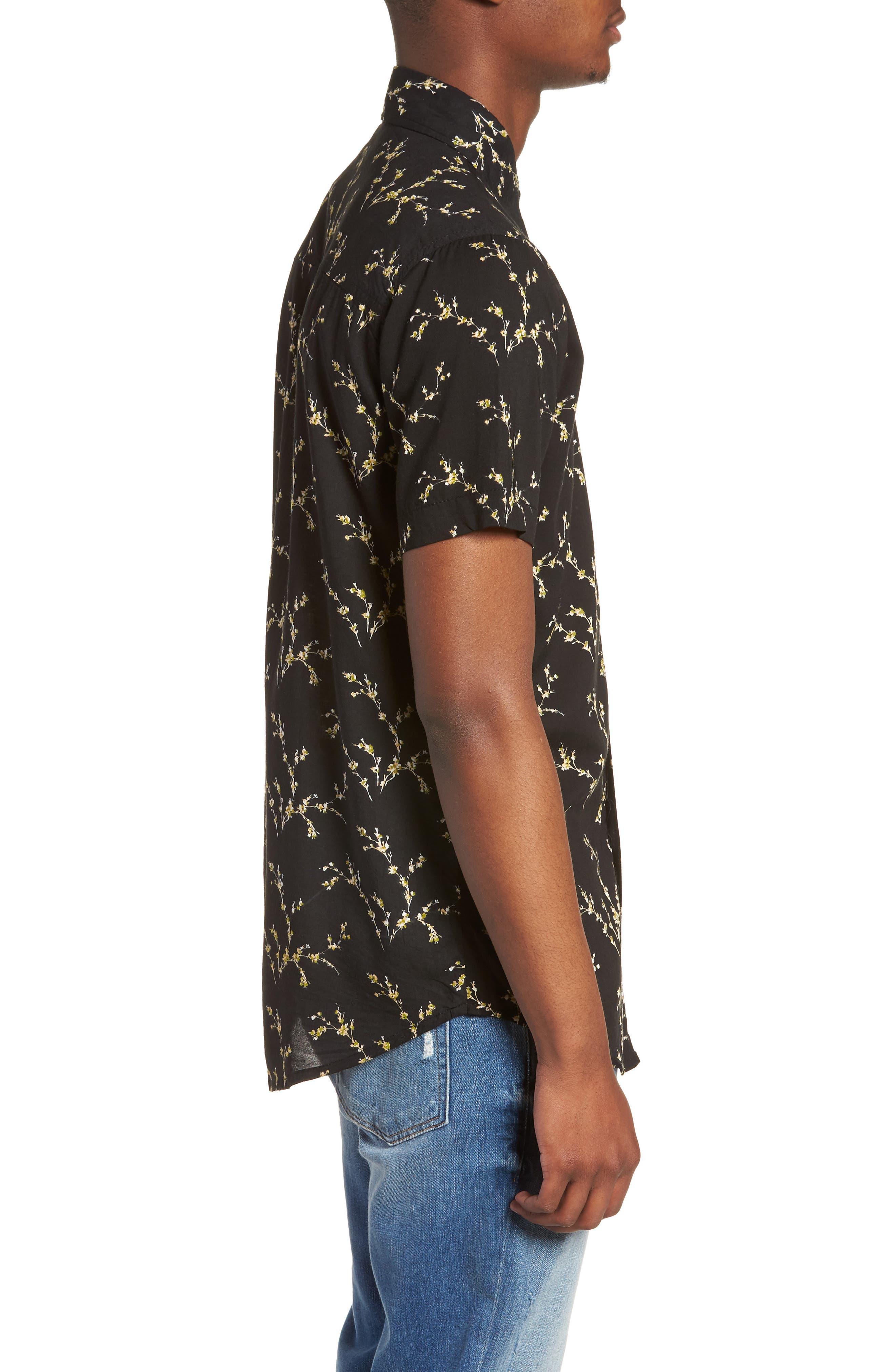 Stevie Woven Shirt,                             Alternate thumbnail 3, color,                             001
