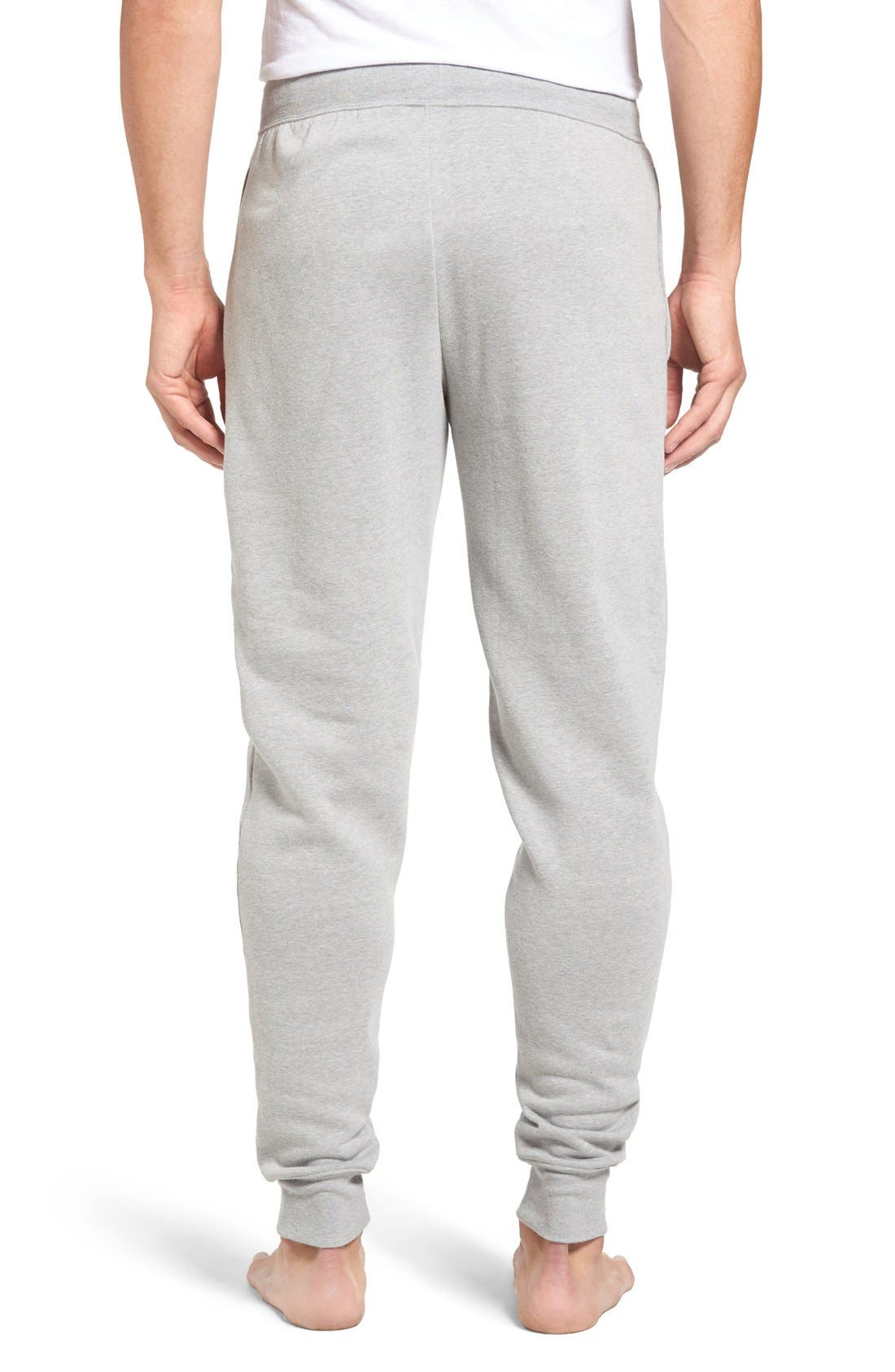 Brushed Jersey Cotton Blend Jogger Pants,                             Alternate thumbnail 8, color,                             ANDOVER HEATHER GREY