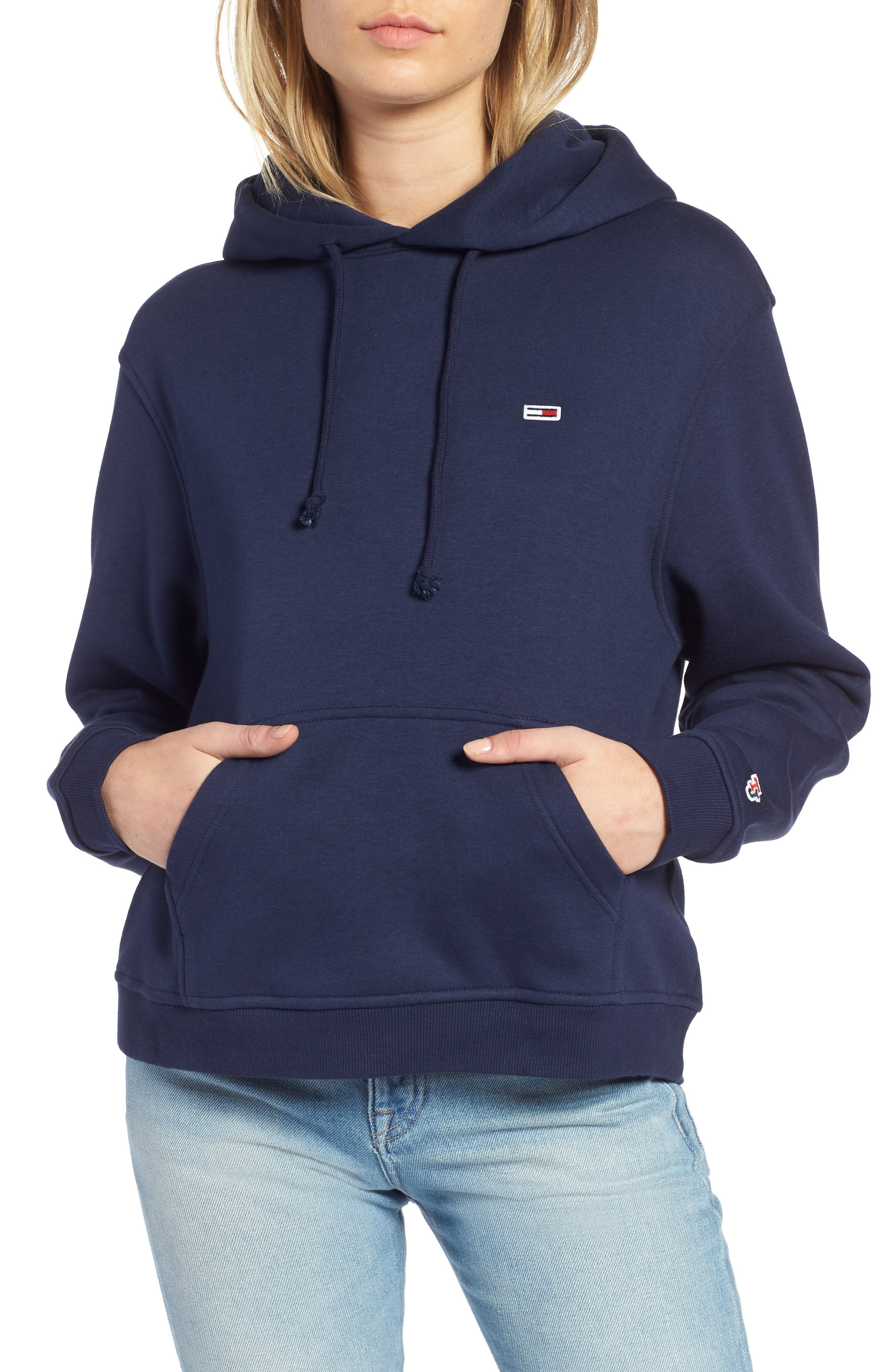 TJW Tommy Classics Hoodie,                             Main thumbnail 1, color,                             BLACK IRIS