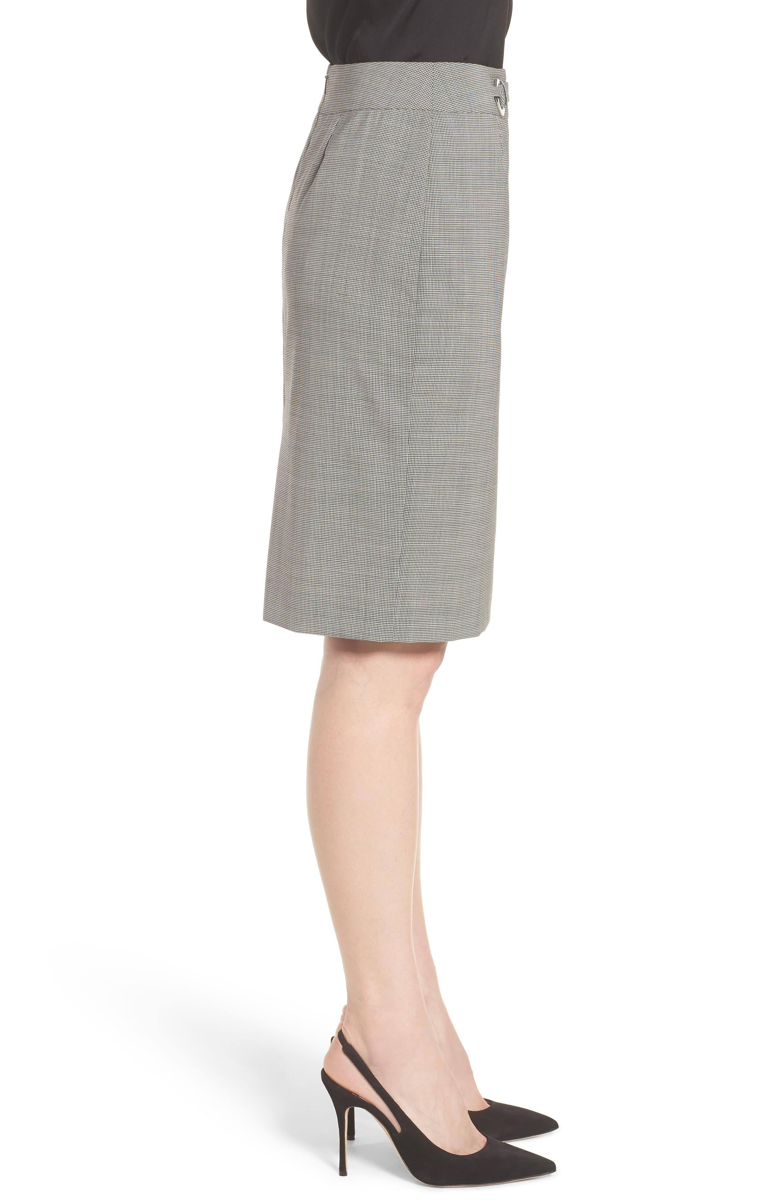 Vavilla Stretch Wool Suit Skirt,                             Alternate thumbnail 3, color,                             006