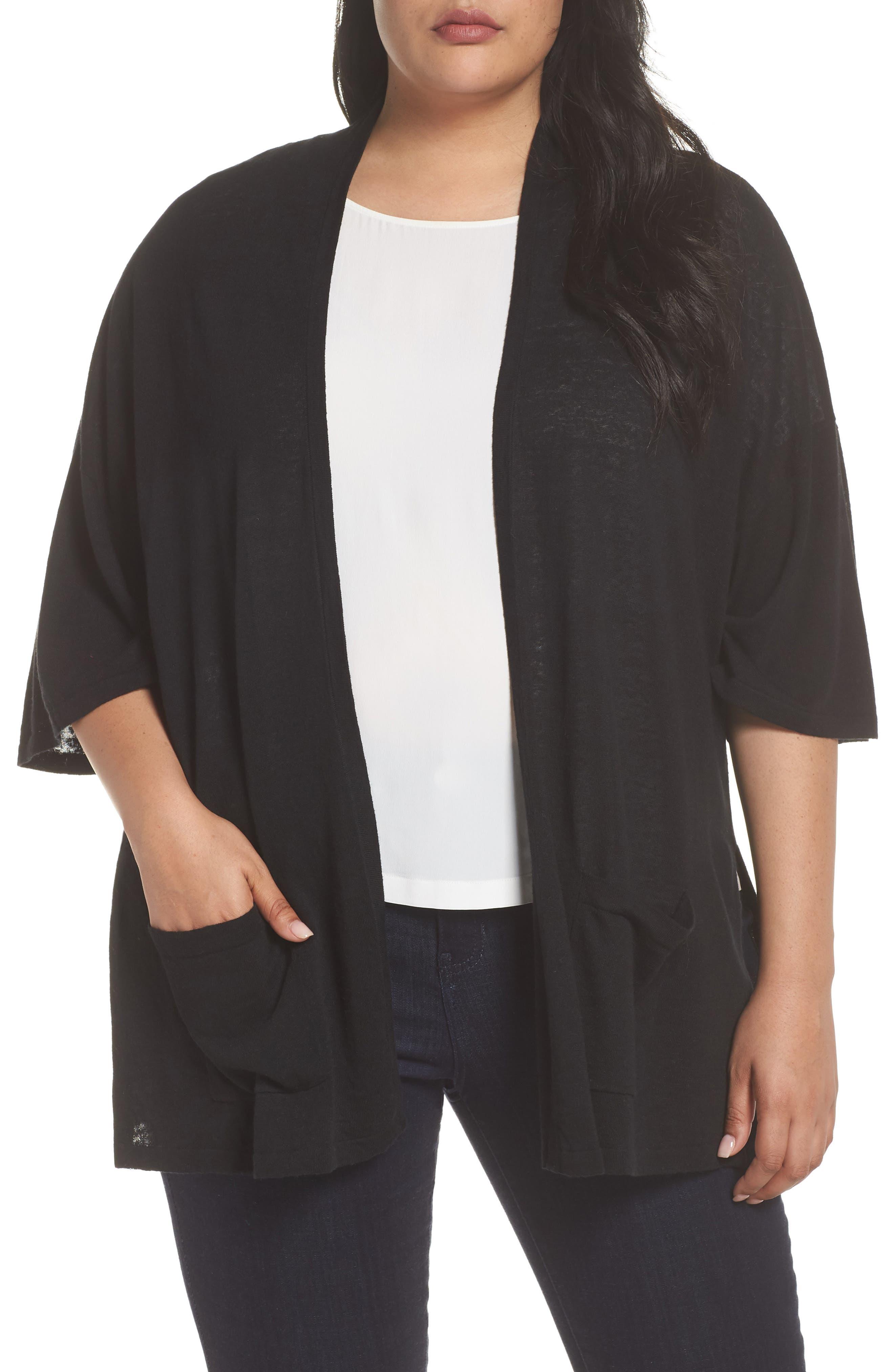 Side Slit Open Front Cardigan,                         Main,                         color, 001