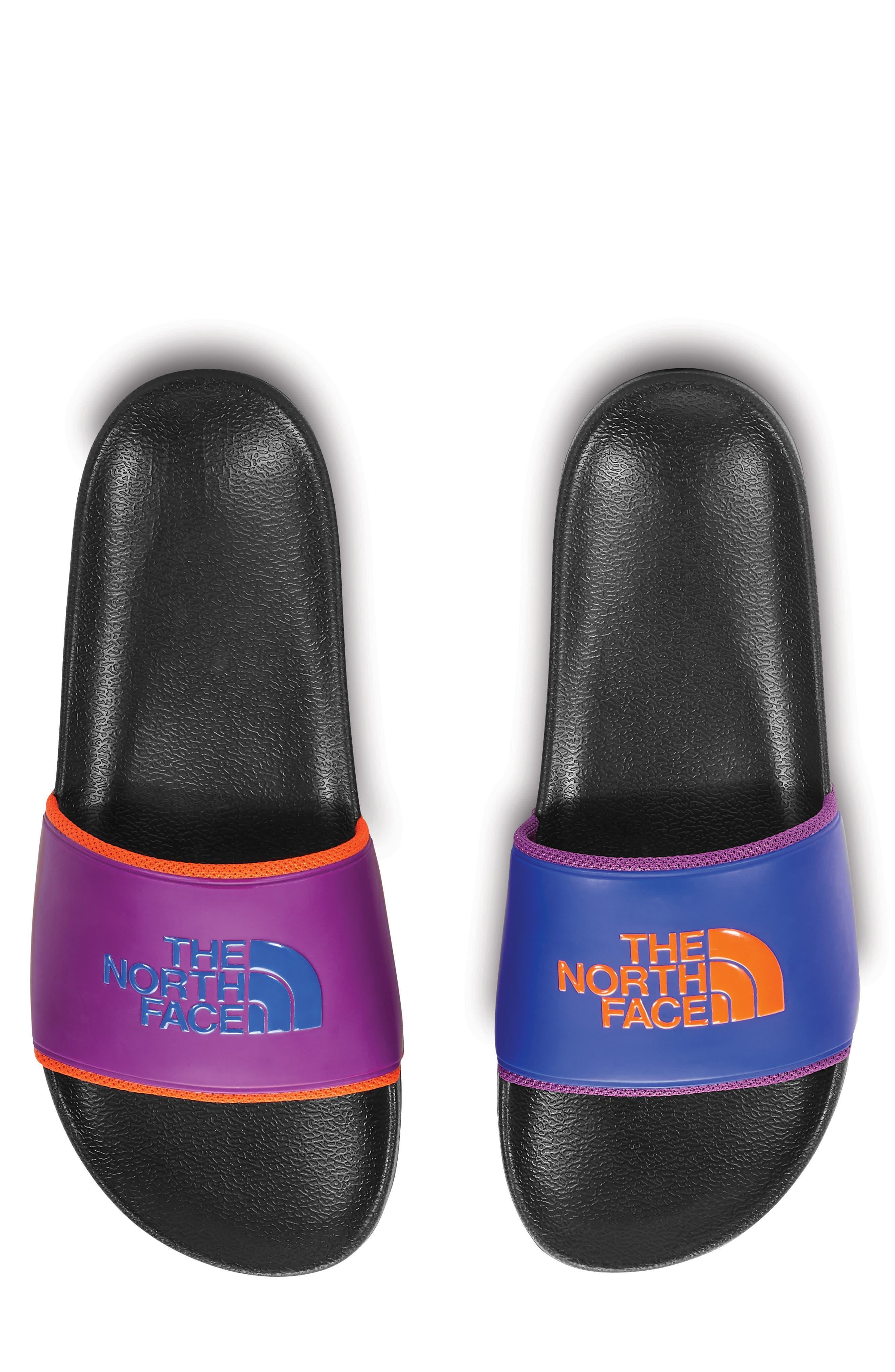 Base Camp II Slide Sandal,                         Main,                         color, TNF BLACK/ AZTEC BLUE