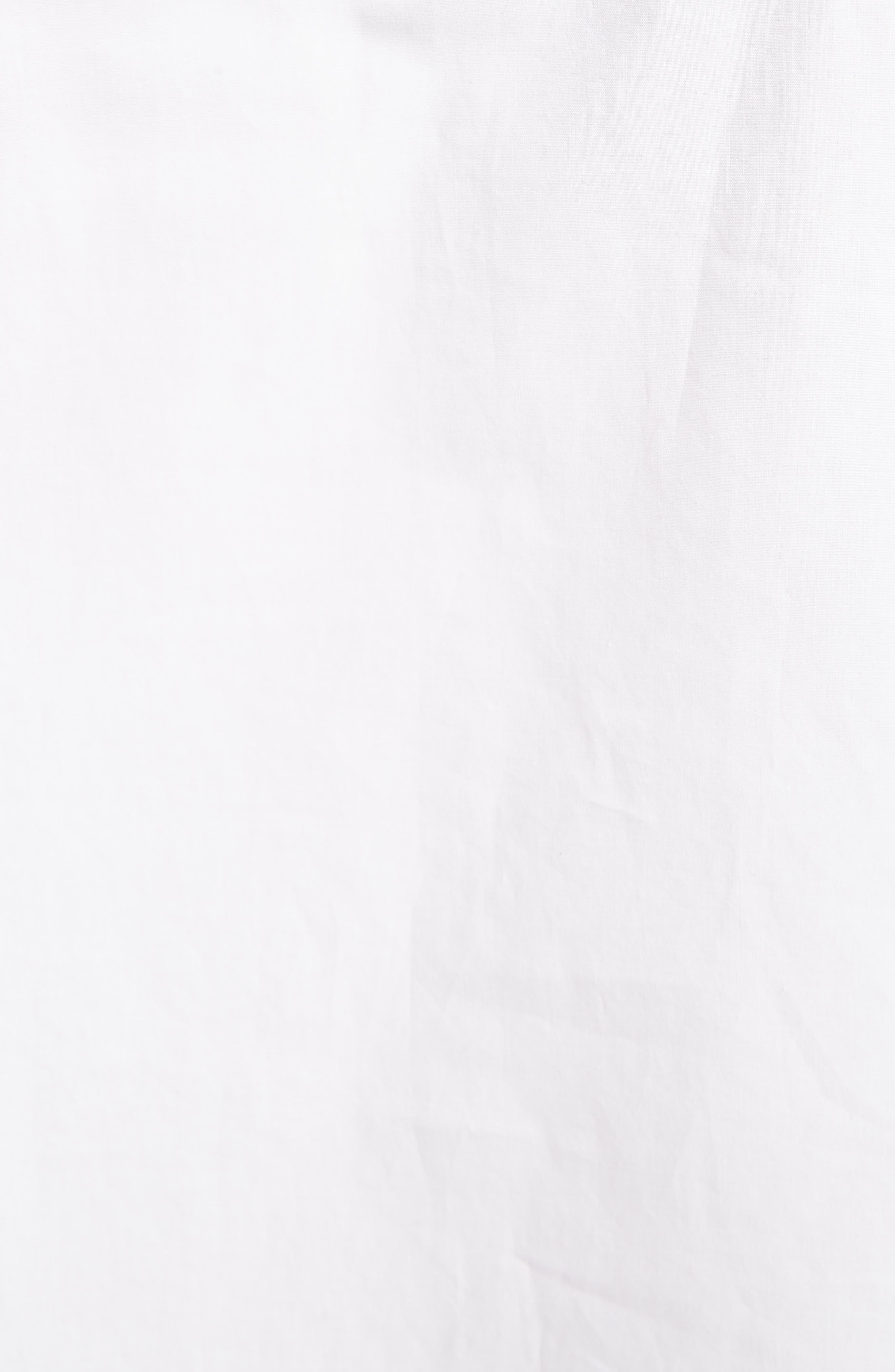 Sasha Poplin Blouse,                             Alternate thumbnail 5, color,                             WHITE