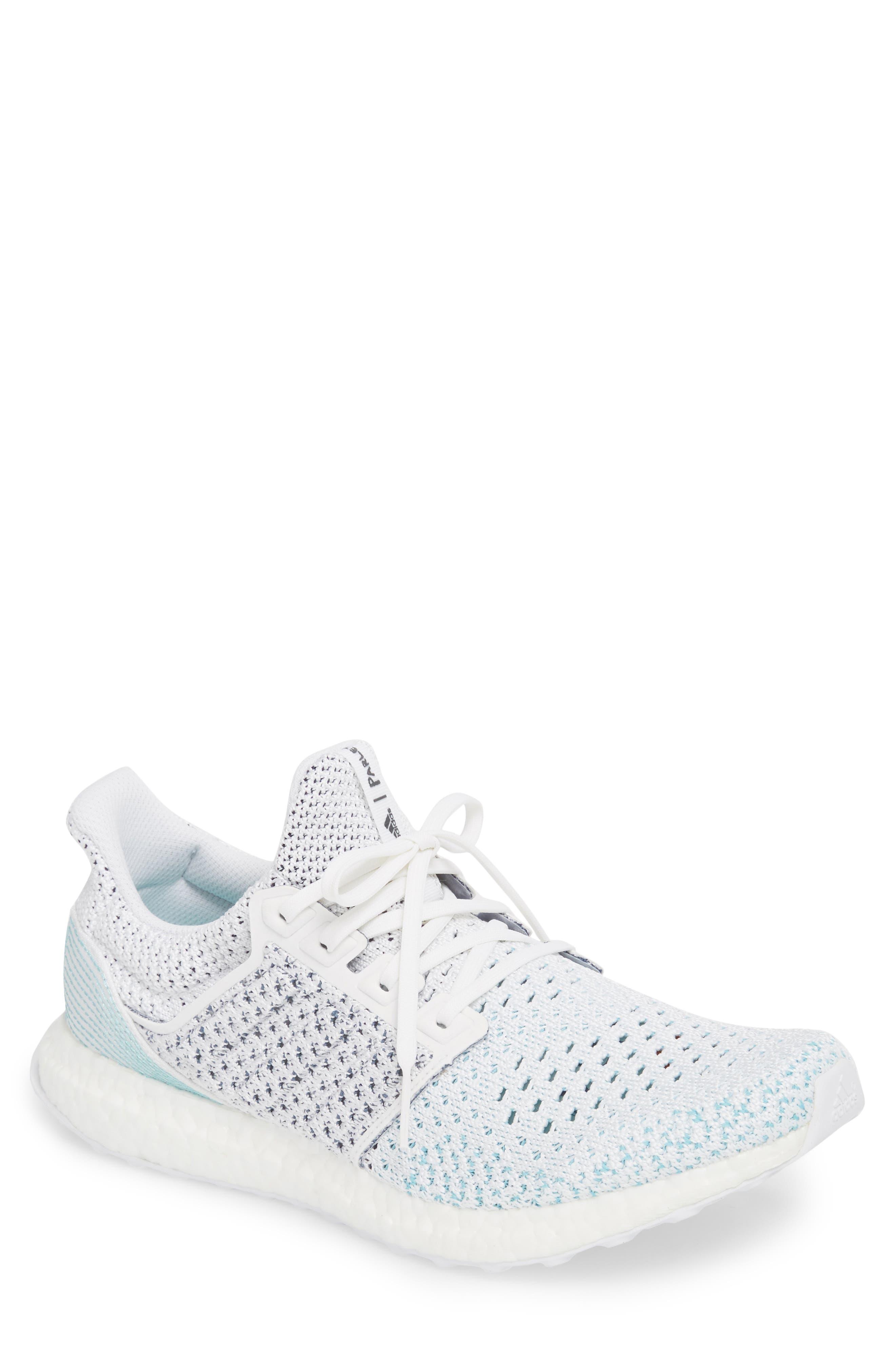 Parley UltraBoost Sneaker,                         Main,                         color, WHITE/ BLUE SPIRIT