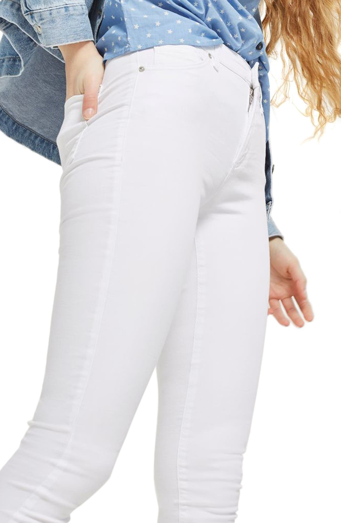 Leigh Skinny Jeans,                             Alternate thumbnail 3, color,                             100