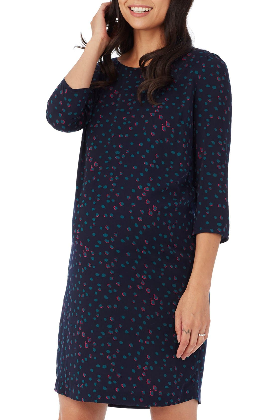 'Sloane' Maternity Dress,                             Alternate thumbnail 7, color,