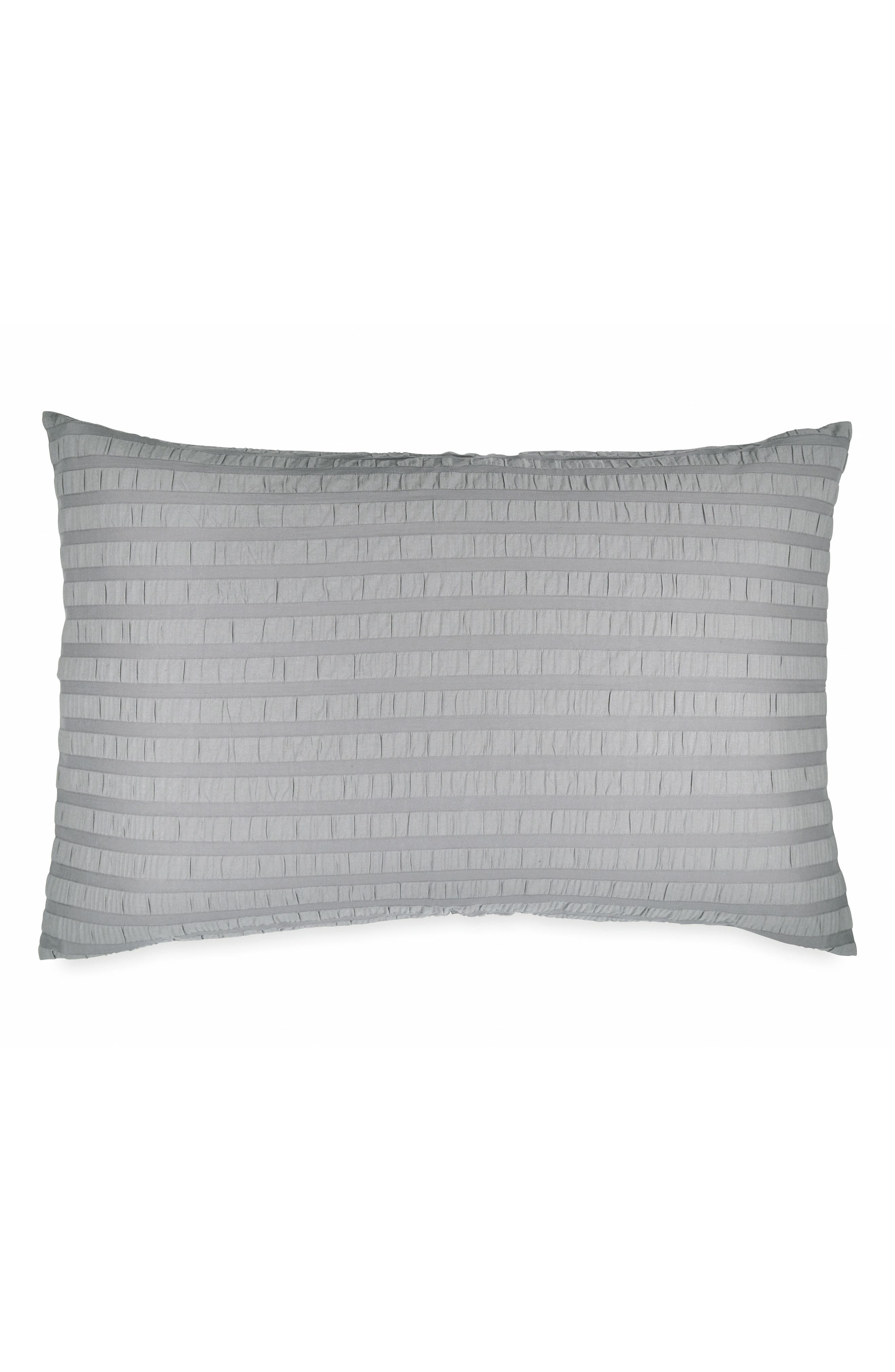City Crush Sham,                             Main thumbnail 1, color,                             GREY