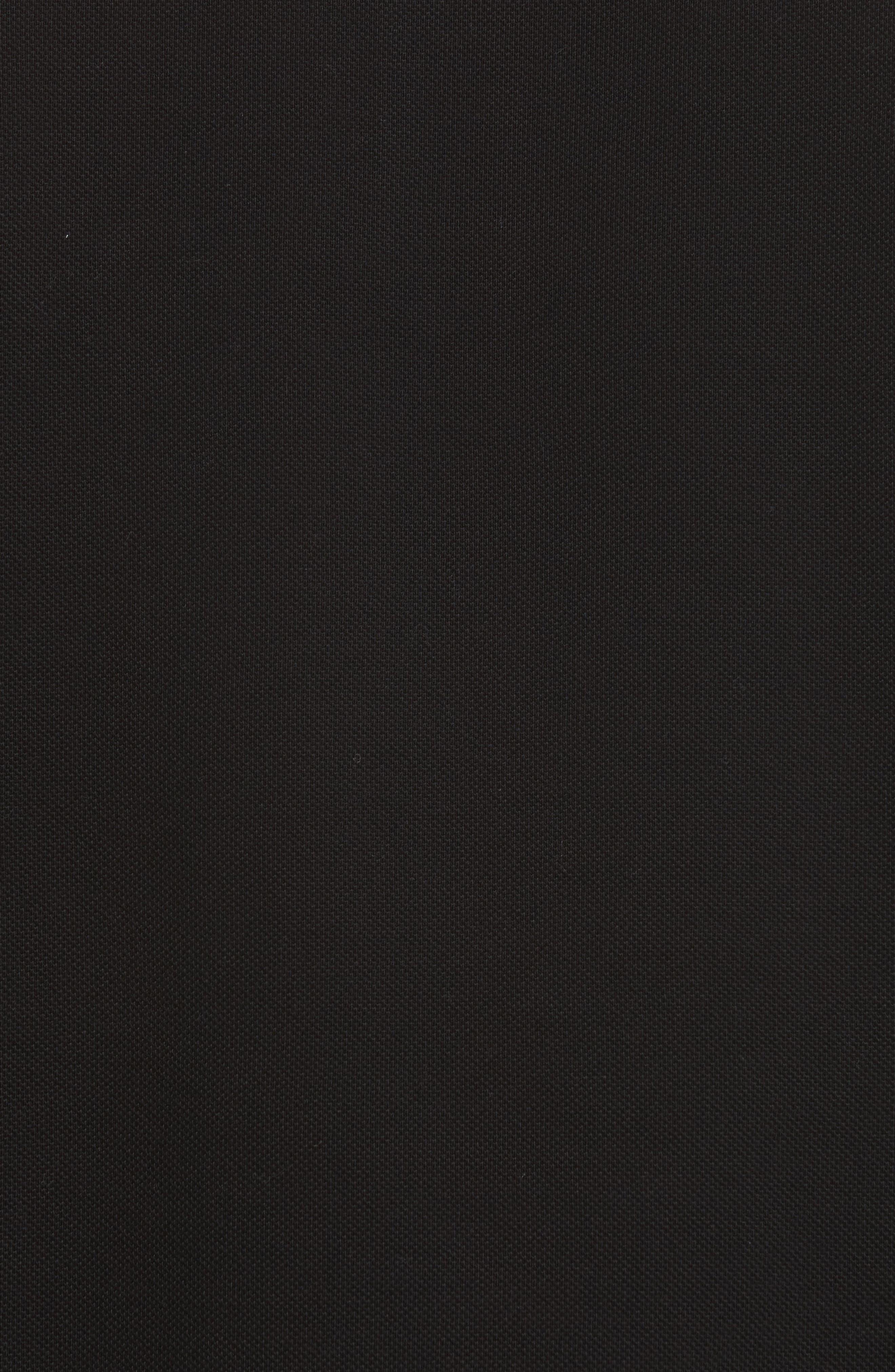 Maglia Piqué Polo,                             Alternate thumbnail 5, color,                             BLACK