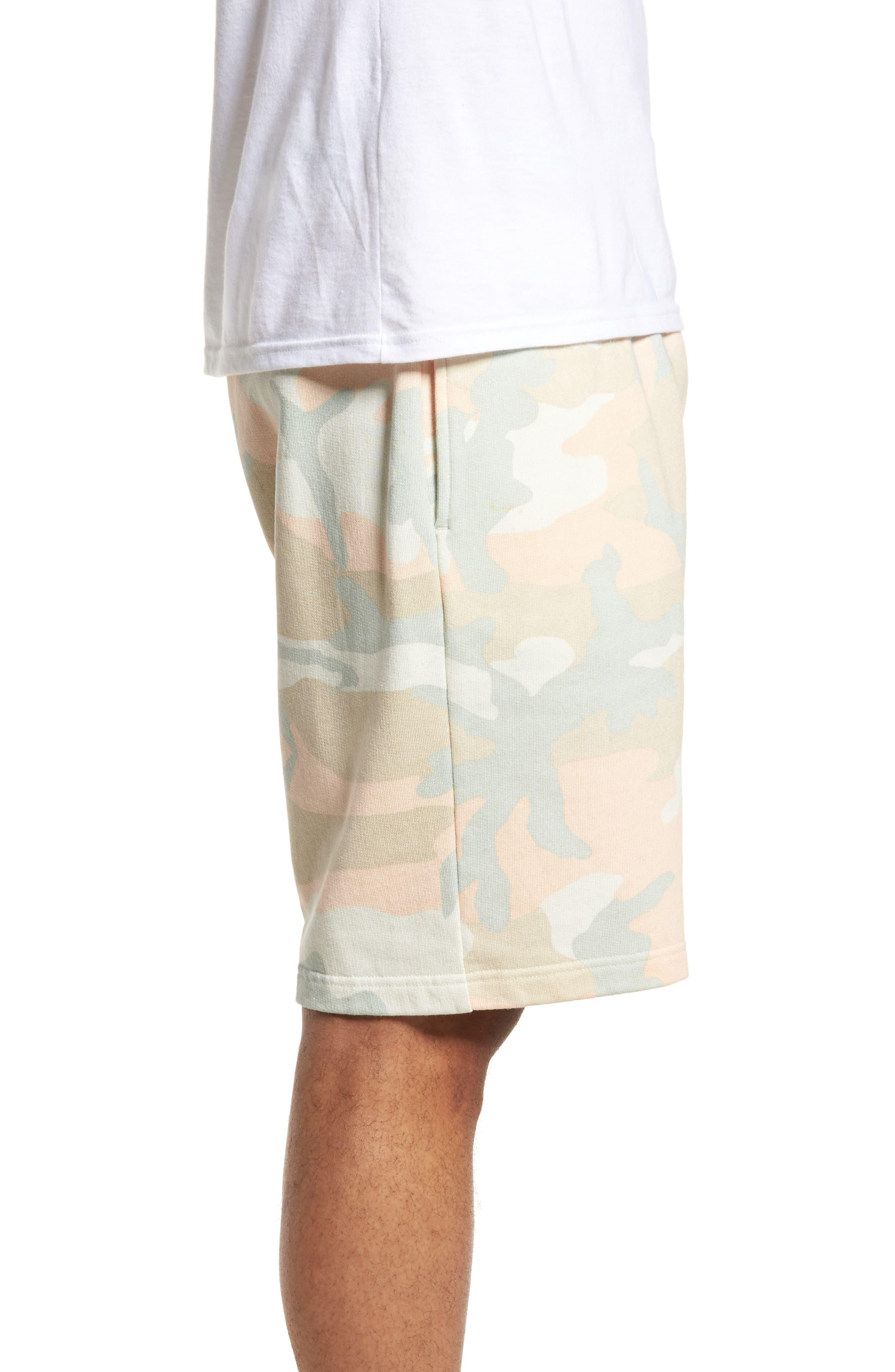 Marty Pastel Camo Fleece Shorts,                             Alternate thumbnail 3, color,                             650