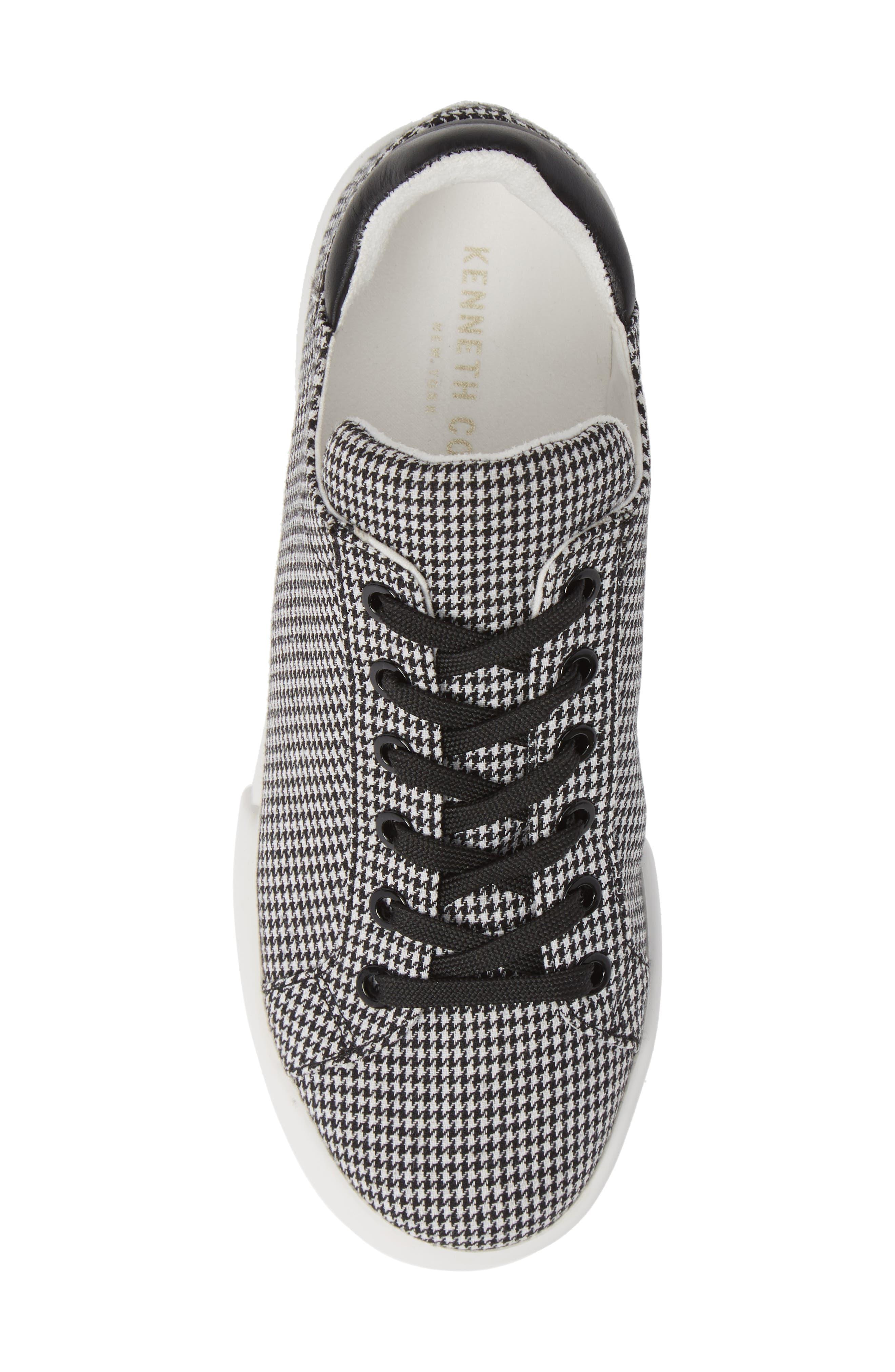 Tyler Sneaker,                             Alternate thumbnail 5, color,                             BLACK/ WHITE FABRIC