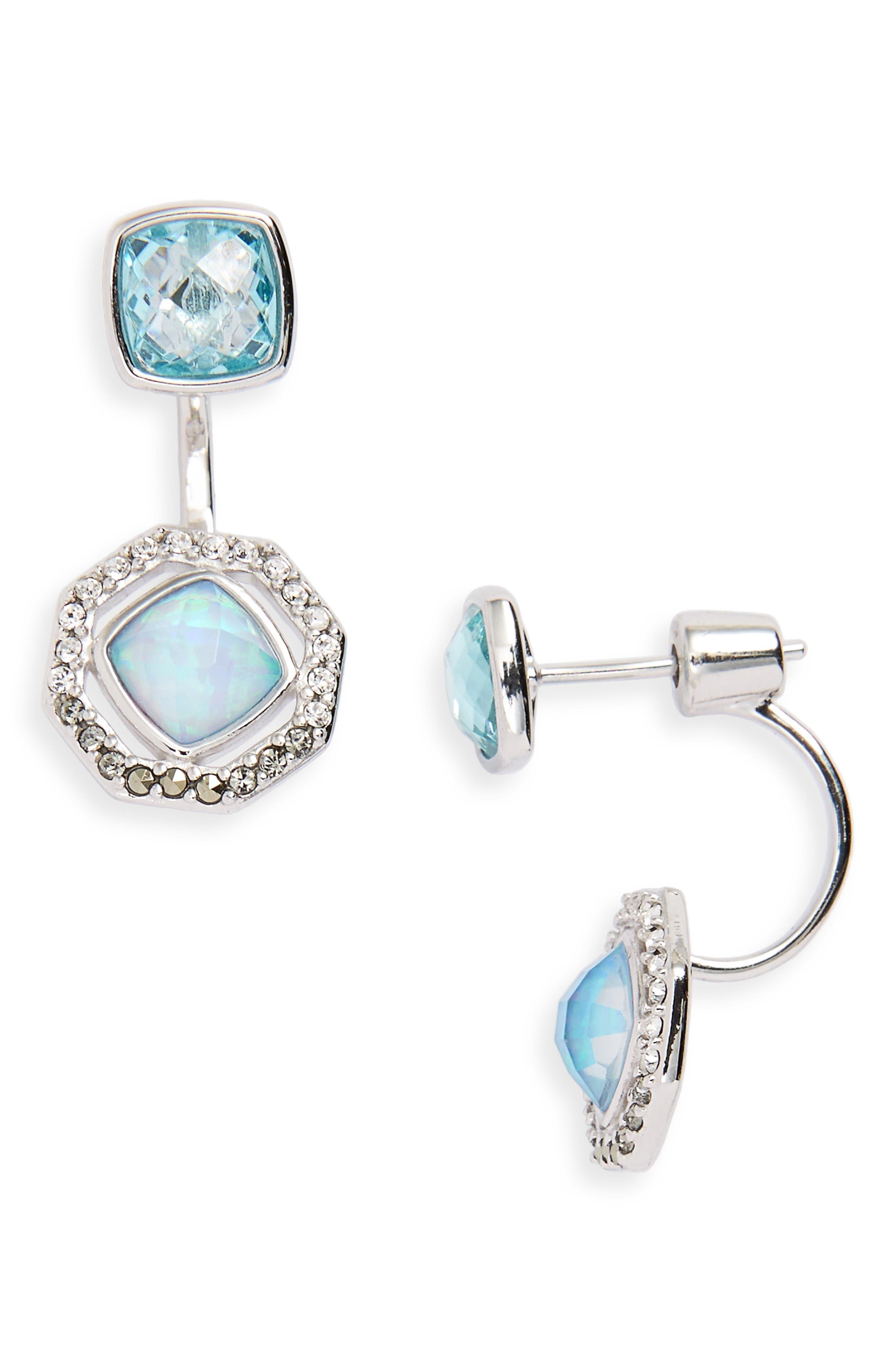 Paradise Drop Back Earrings,                         Main,                         color,