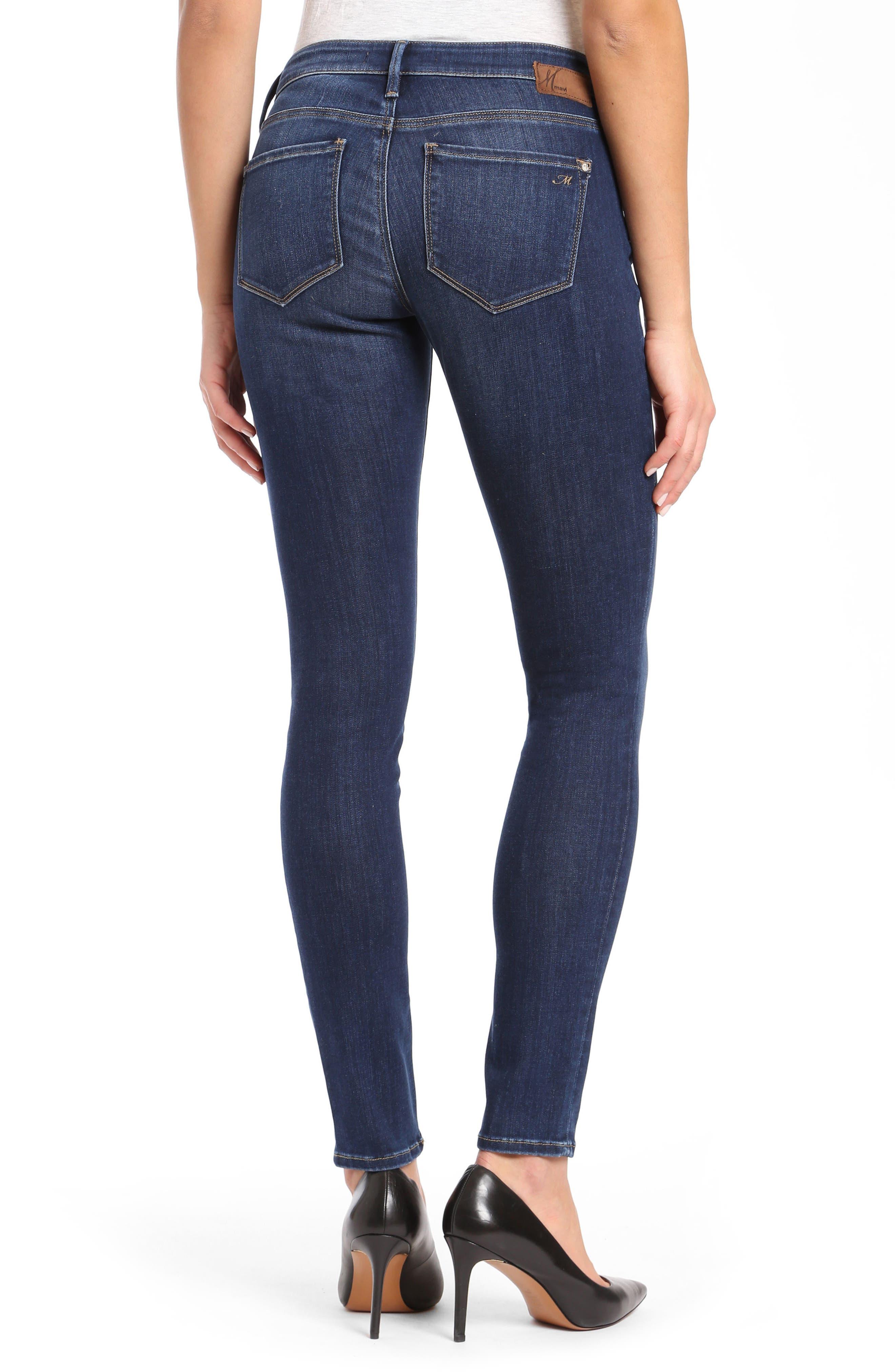 Alexa Supersoft Skinny Jeans,                             Alternate thumbnail 2, color,                             DARK SUPER SOFT