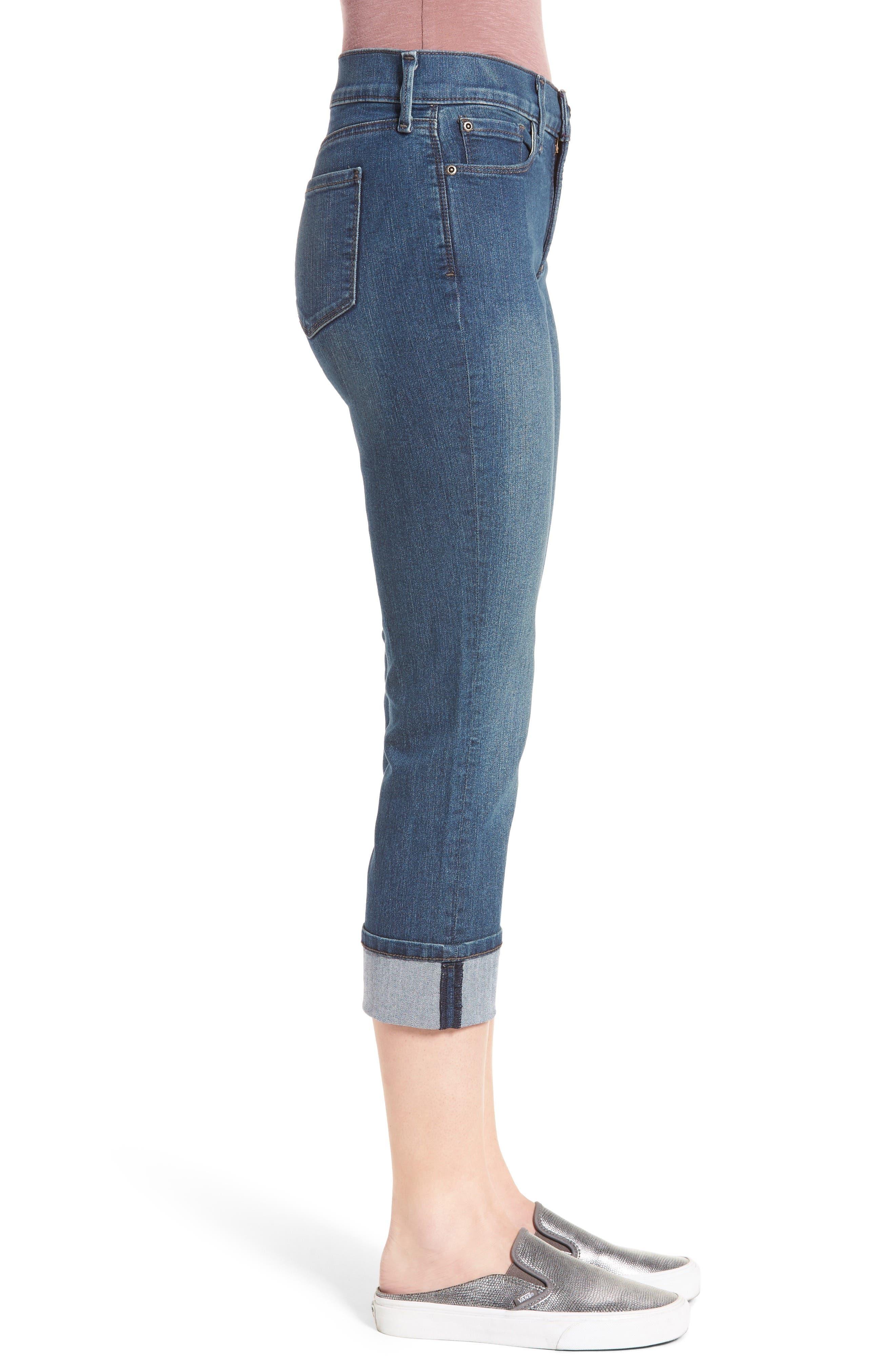 'Dayla' Colored Wide Cuff Capri Jeans,                             Alternate thumbnail 38, color,