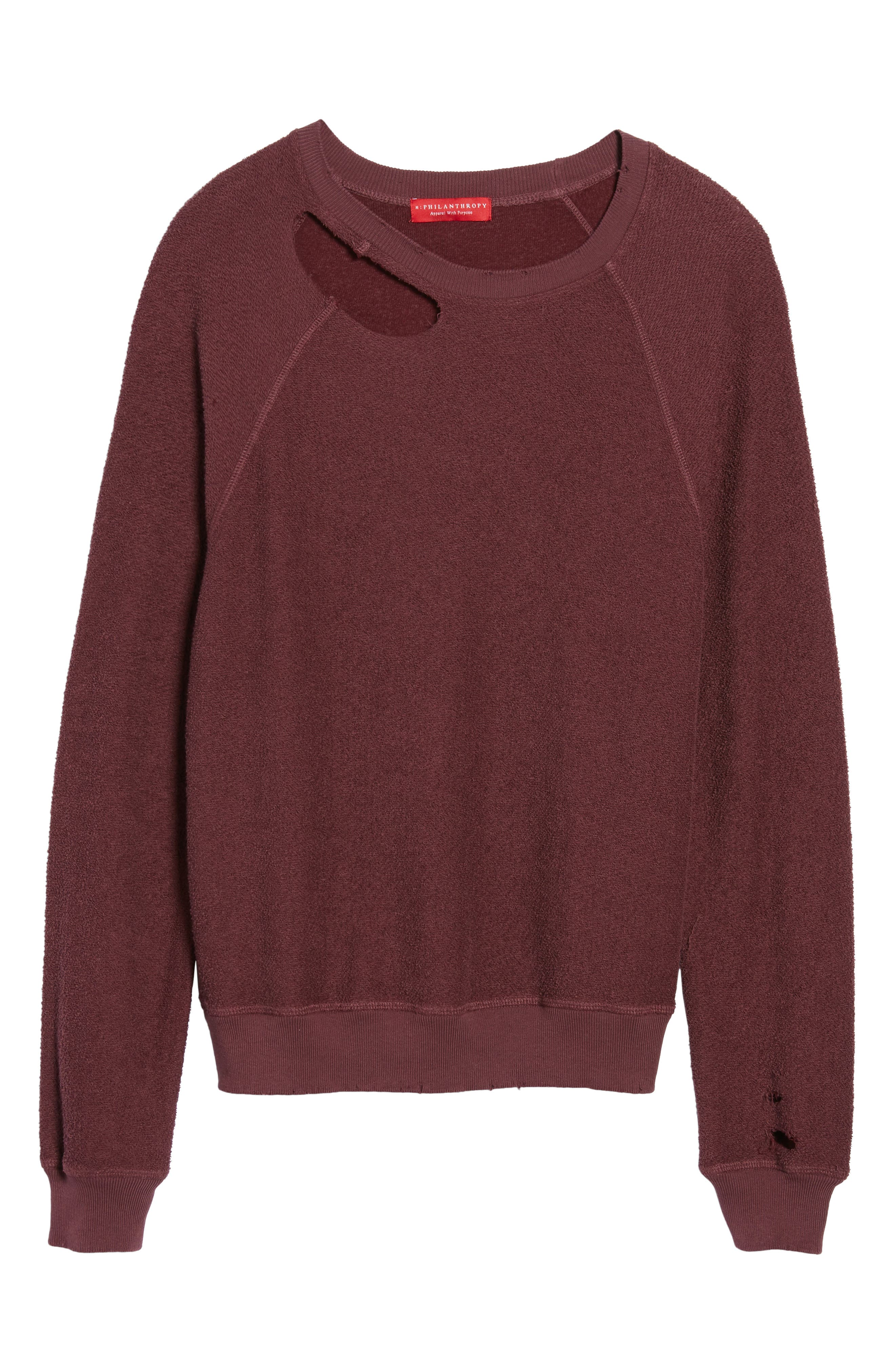 Holden Reverse Distressed Sweatshirt,                             Alternate thumbnail 6, color,                             930