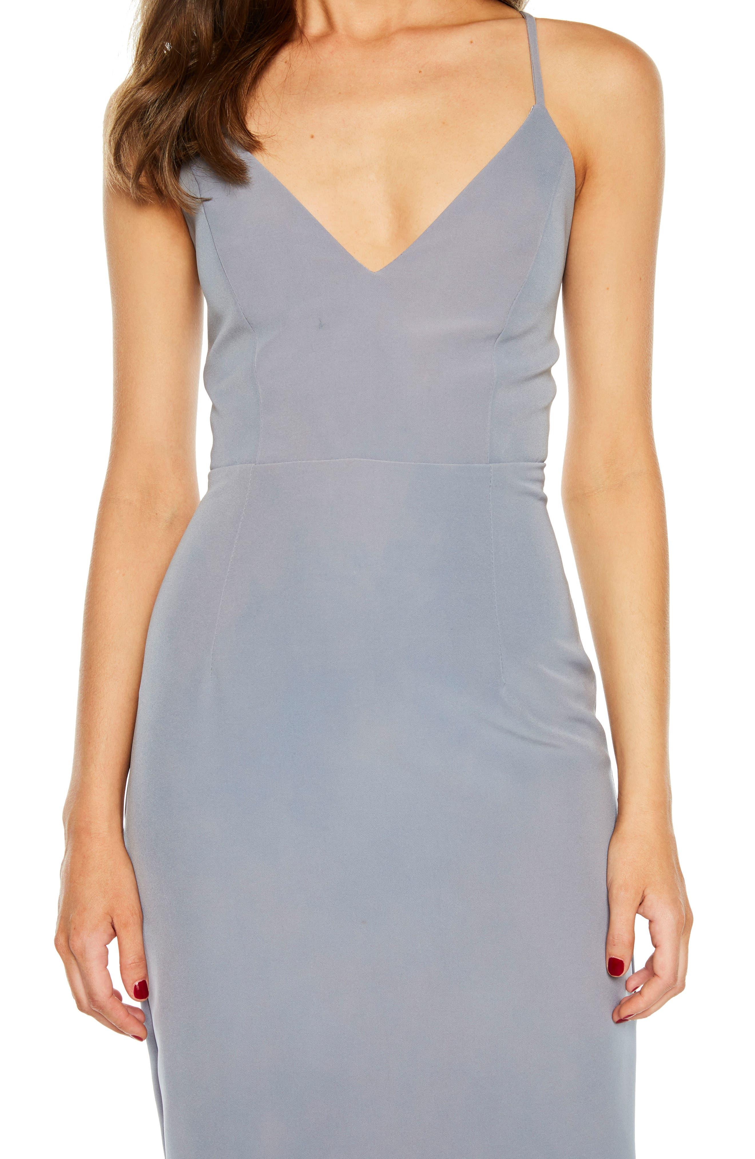 Asymmetrical Open Back Dress,                             Alternate thumbnail 4, color,                             425