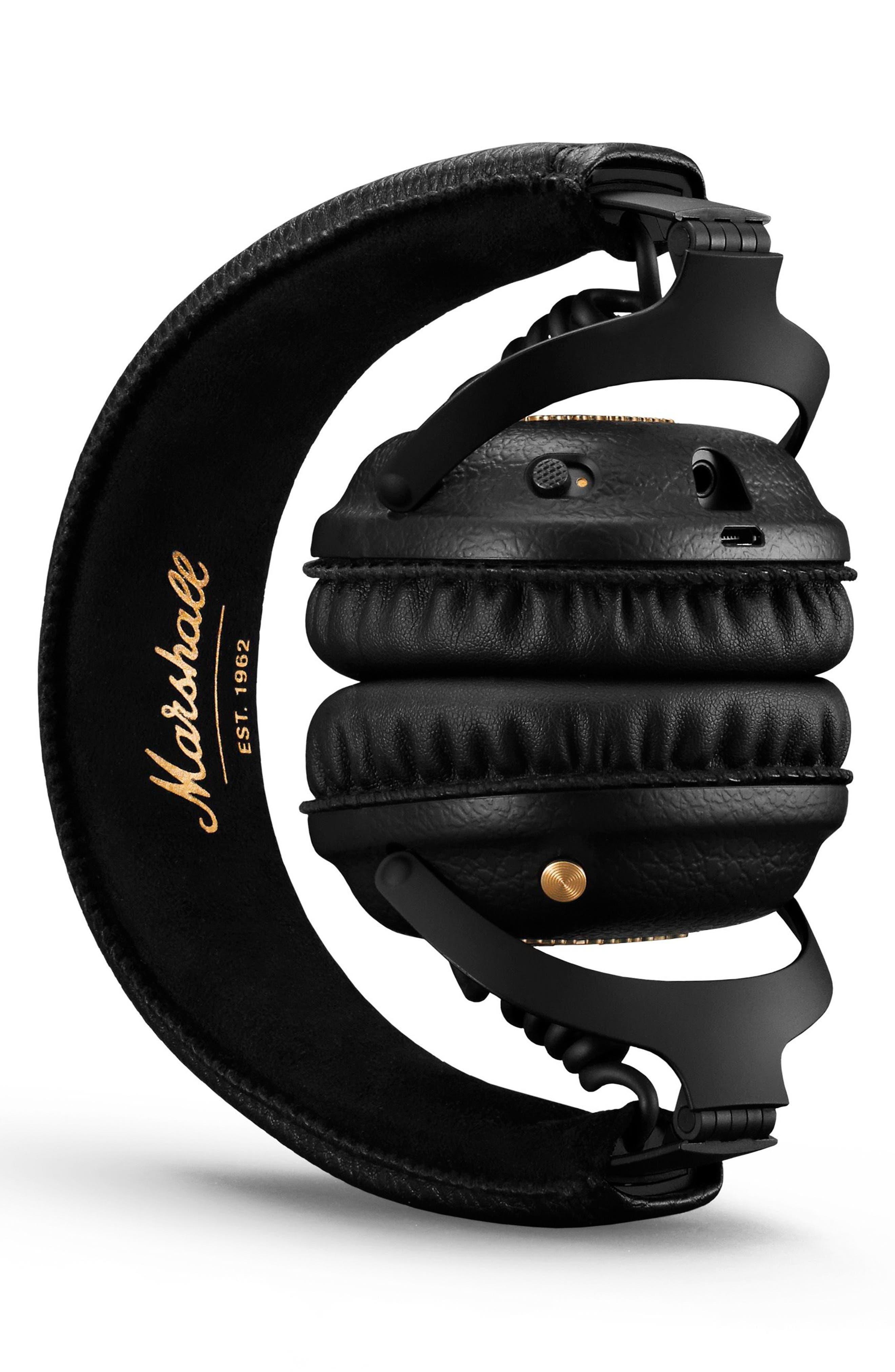 MID ANC Bluetooth<sup>®</sup> On-Ear Headphones,                             Alternate thumbnail 3, color,                             BLACK