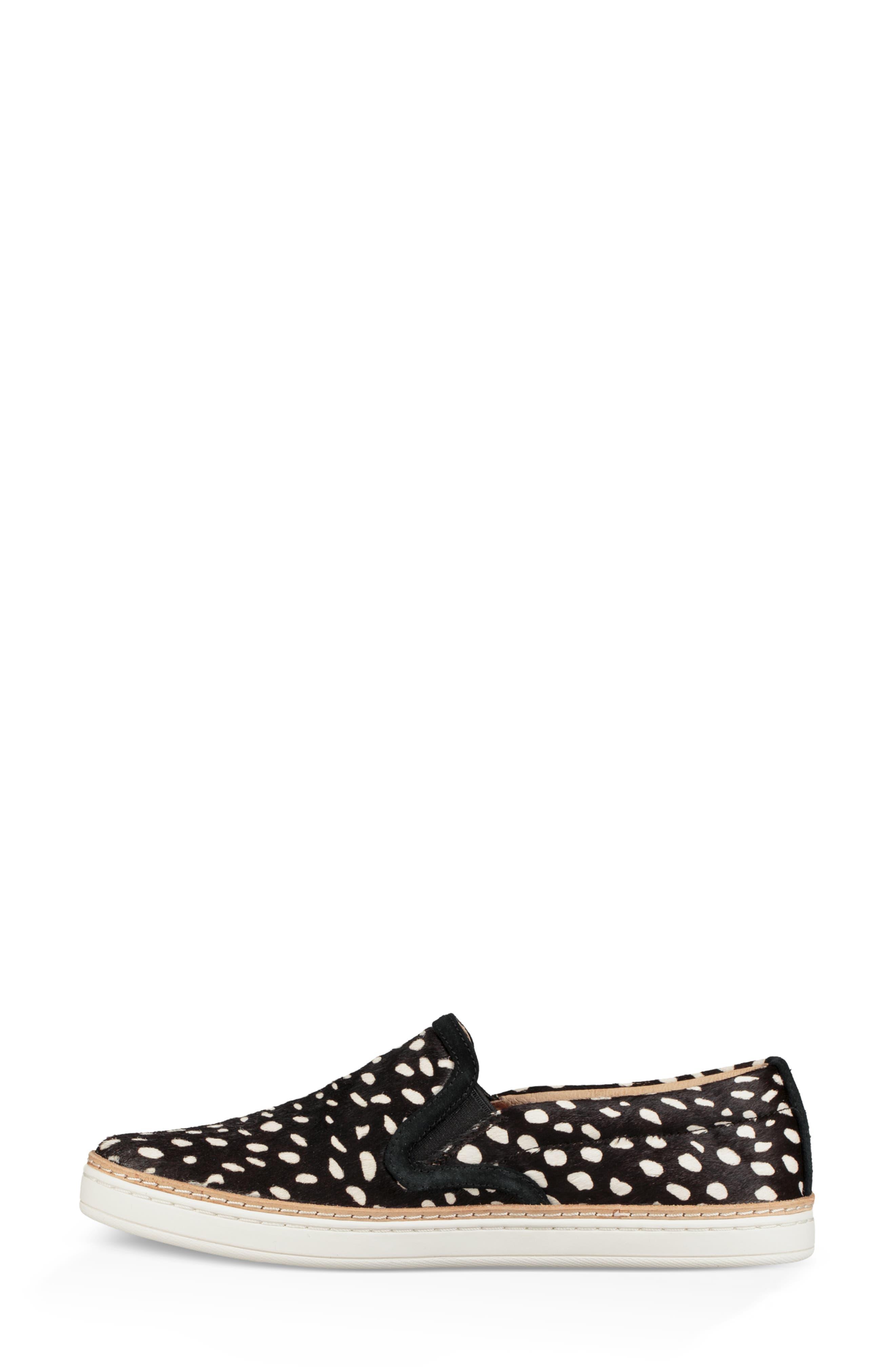 Soleda Genuine Calf Hair Slip-On Sneaker,                             Alternate thumbnail 6, color,                             BLACK