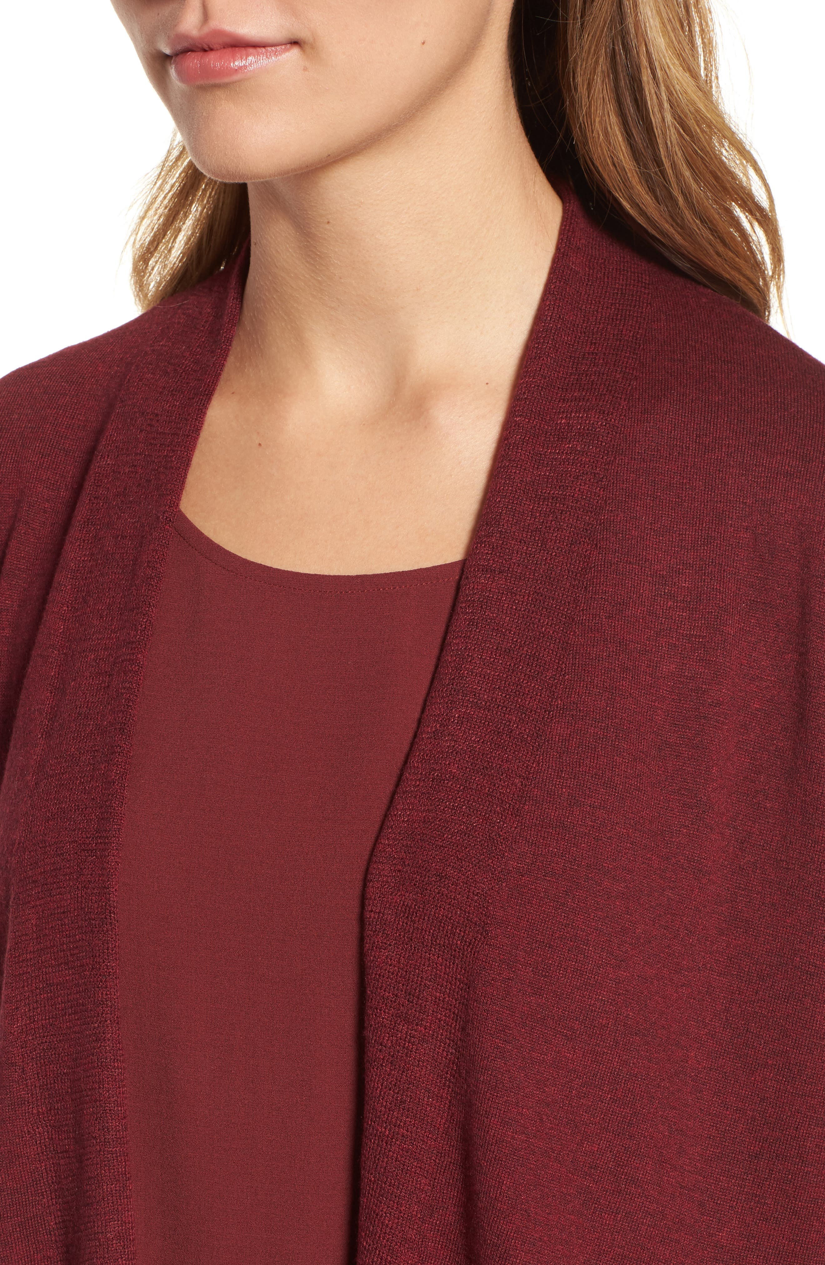 Shaped Tencel<sup>®</sup> Lyocell Blend Cardigan,                             Alternate thumbnail 16, color,