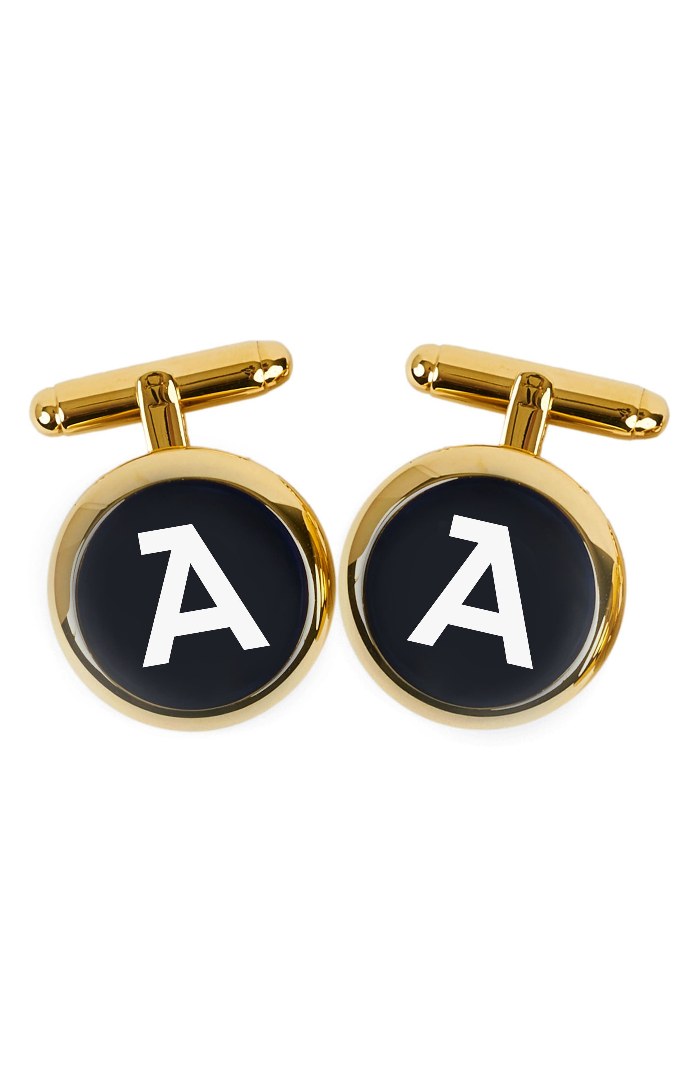 Brooklyn Initial Cuff Links,                         Main,                         color, 710