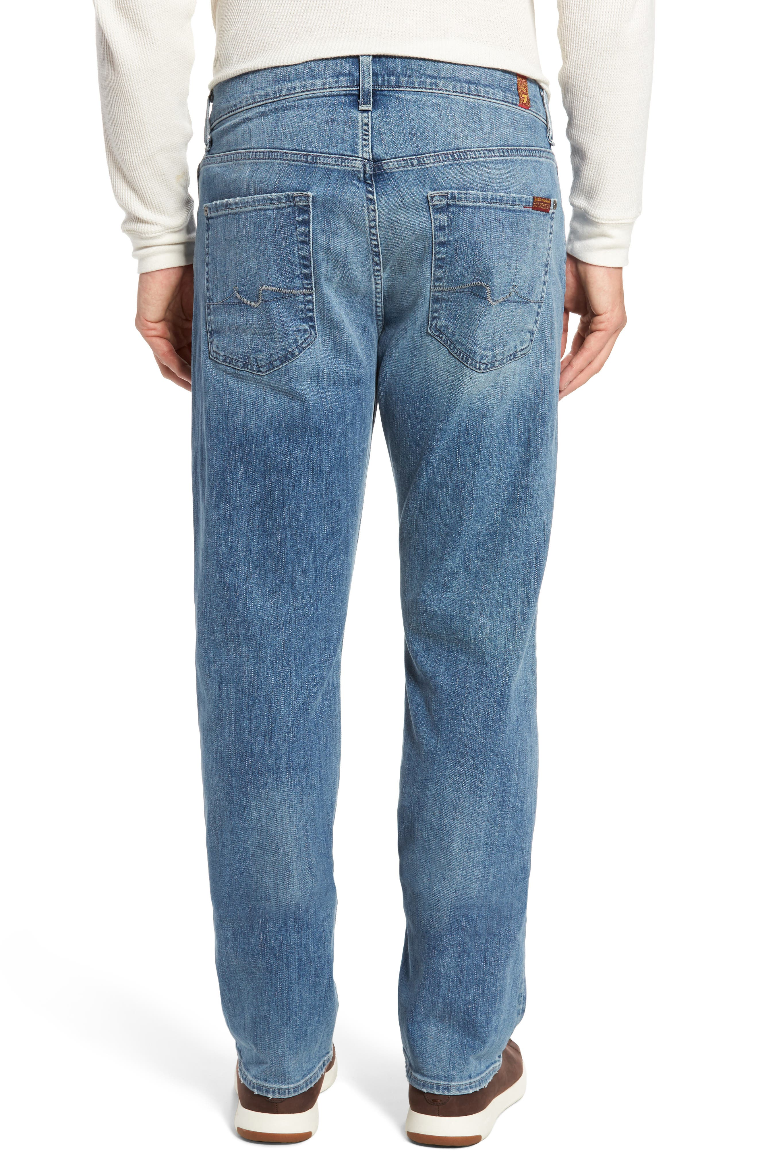 7 FOR ALL MANKIND<SUP>®</SUP>,                             Luxe Performance - Carsen Straight Leg Jeans,                             Alternate thumbnail 2, color,                             HOMAGE