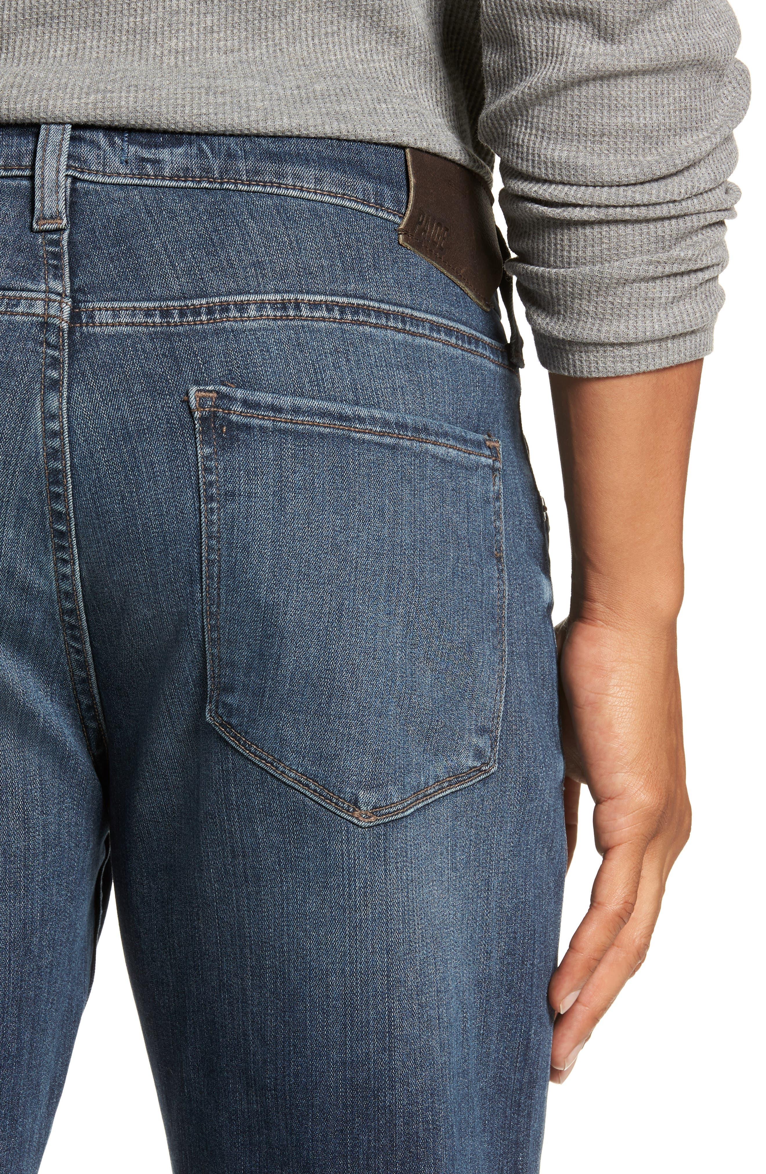 Transcend - Normandie Straight Leg Jeans,                             Alternate thumbnail 4, color,                             DILLON